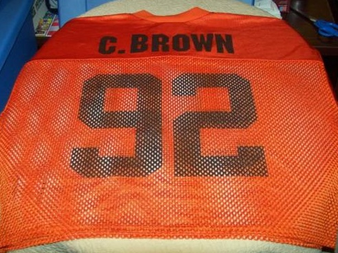 We all have such fond memories of the primarily orange/brown numeral mesh half  jerseys right?!