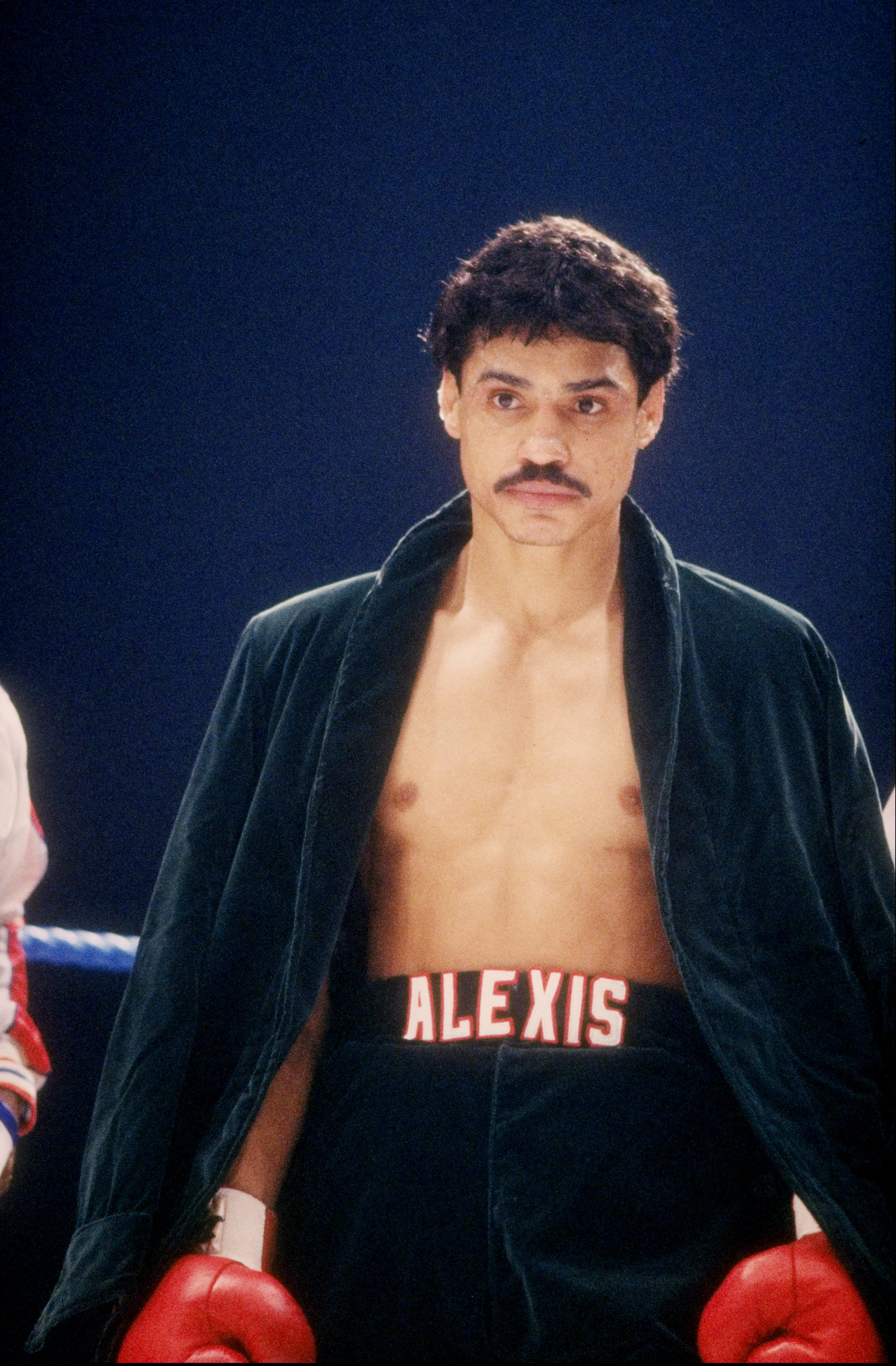 1985-1986: Alexis Arguello looks on during a bout. Mandatory Credit: Allsport /Allsport