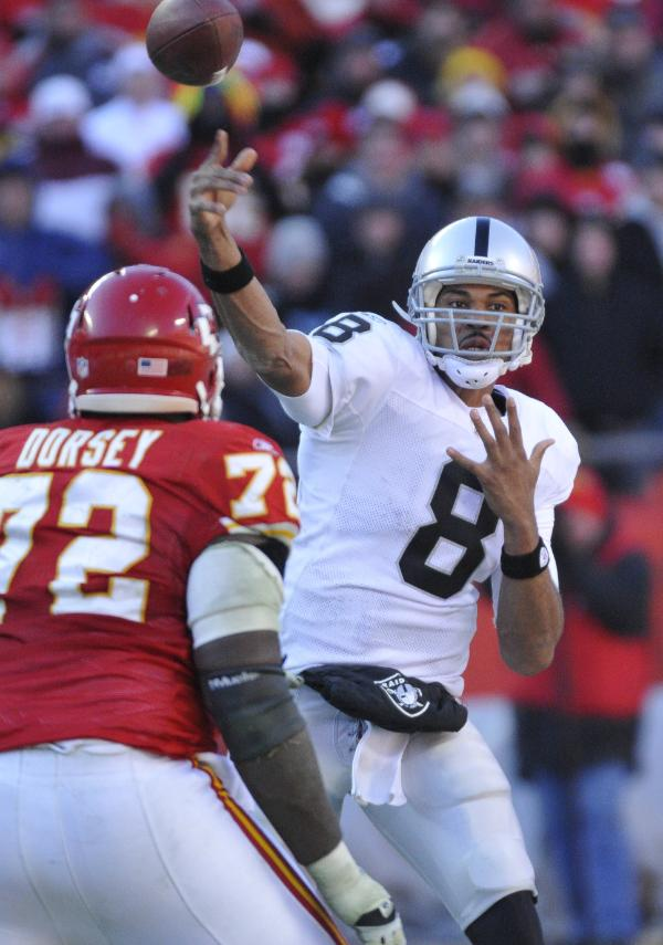 Jason Campbell is finally getting comfortable in the Oakland offense.