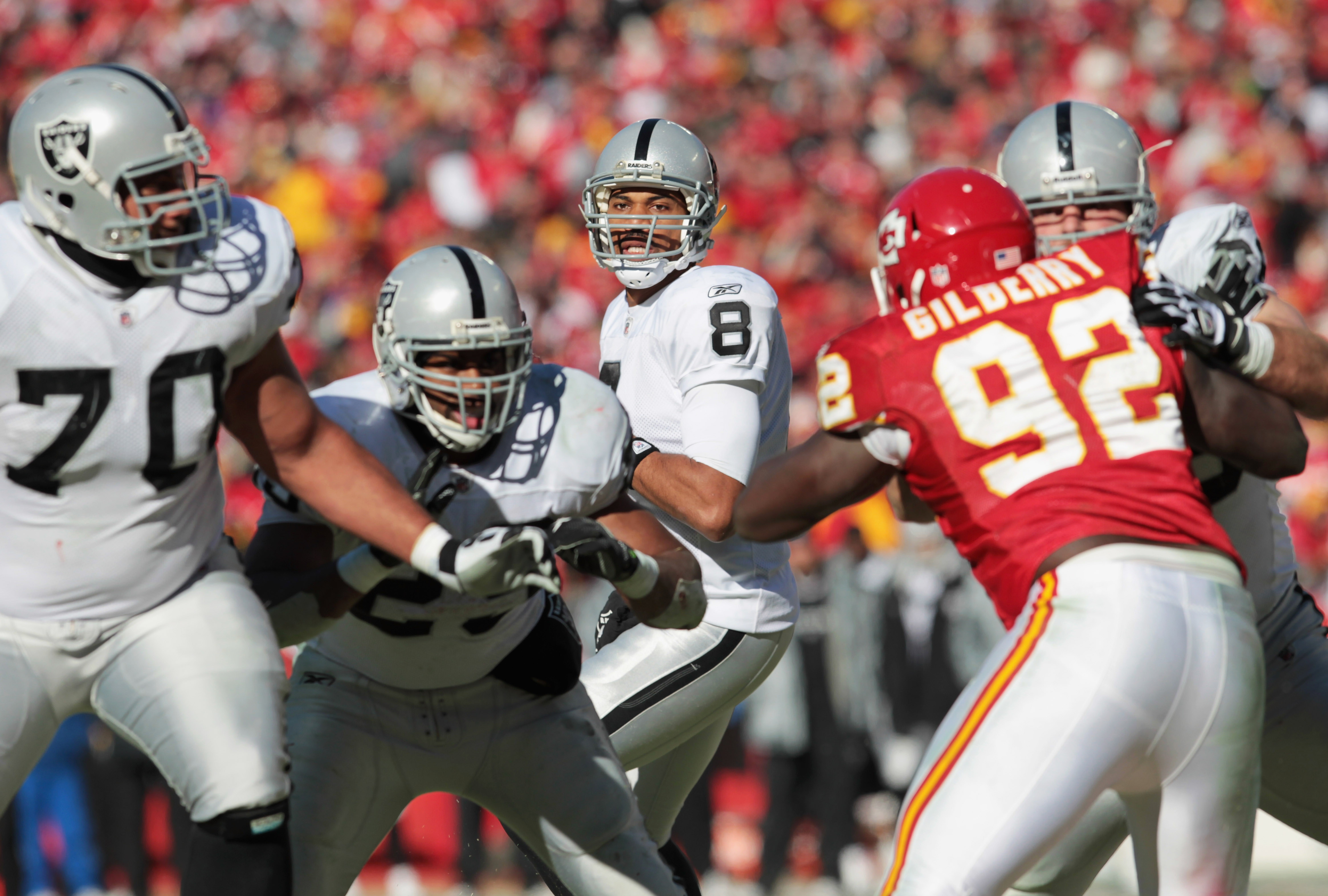 The Raider offensive line played very well...especially in the running game.