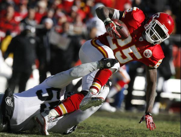 Rolando McClain was almost unblockable against the Chiefs.