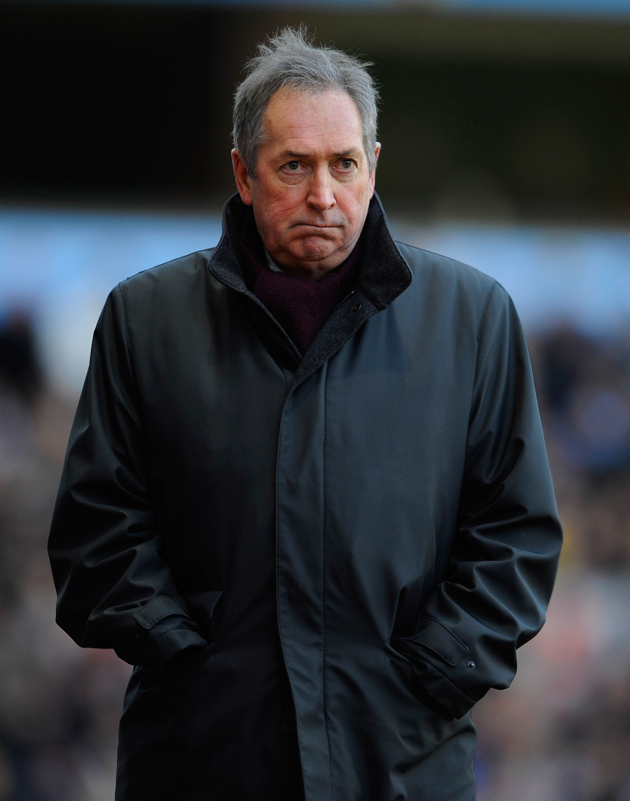 BIRMINGHAM, ENGLAND - NOVEMBER 27:  Villa manager Gerard Houllier looks on during the Barclays Premier League match between Aston Villa and Arsenal at Villa Park on November 27, 2010 in Birmingham, England.  (Photo by Michael Regan/Getty Images)