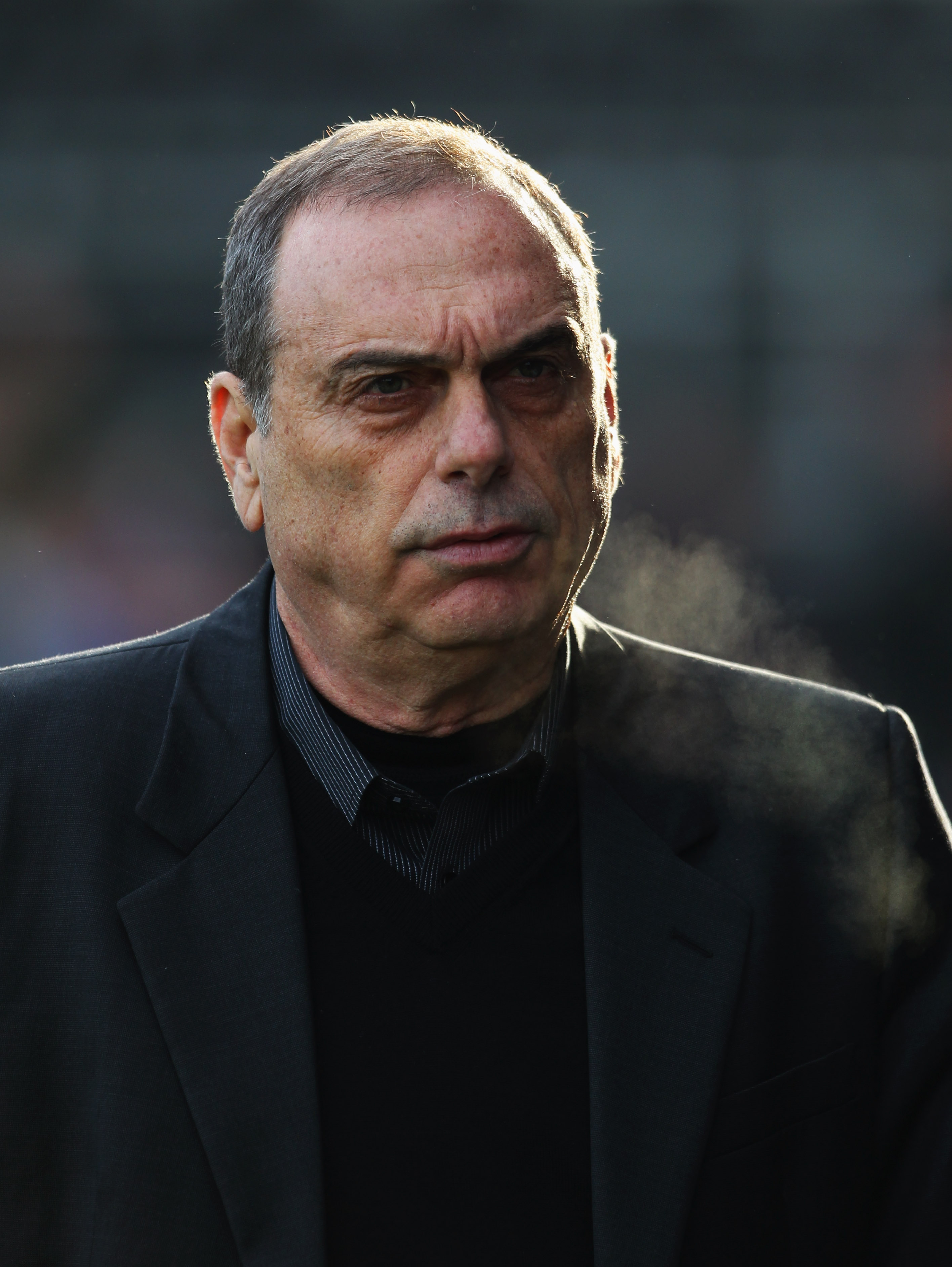 LONDON, ENGLAND - DECEMBER 26:  Avram Grant manager of West Ham United looks thoughtful prior to the Barclays Premier League match between Fulham and West Ham United at Craven Cottage on December 26, 2010 in London, England.  (Photo by Clive Rose/Getty Im