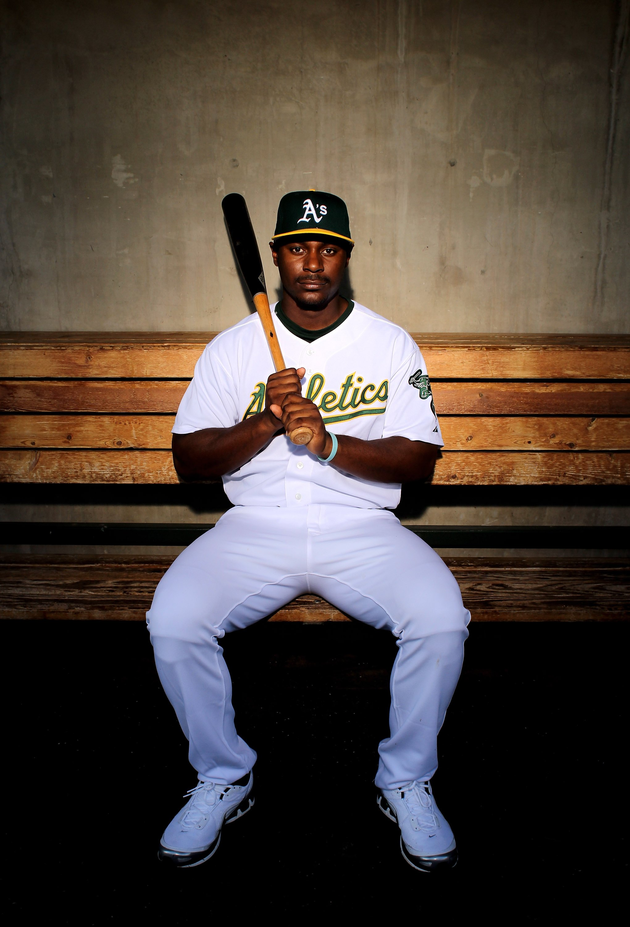 PHOENIX - MARCH 01:  Chris Carter of the Oakland Athletics poses during photo media day at the Athletics spring training complex on March 1, 2010 in Phoenix, Arizona.  (Photo by Ezra Shaw/Getty Images)