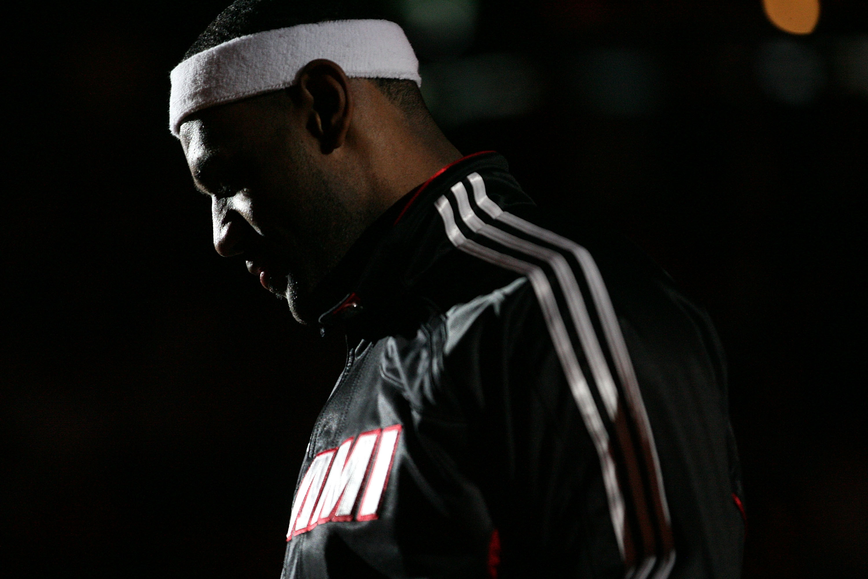 MIAMI - DECEMBER 28:  LeBron James #6 of the Miami Heat is introduced before NBA action against the New York Knicks at American Airlines Arena on December 28, 2010 in Miami, Florida.  (Photo by Marc Serota/Getty Images)