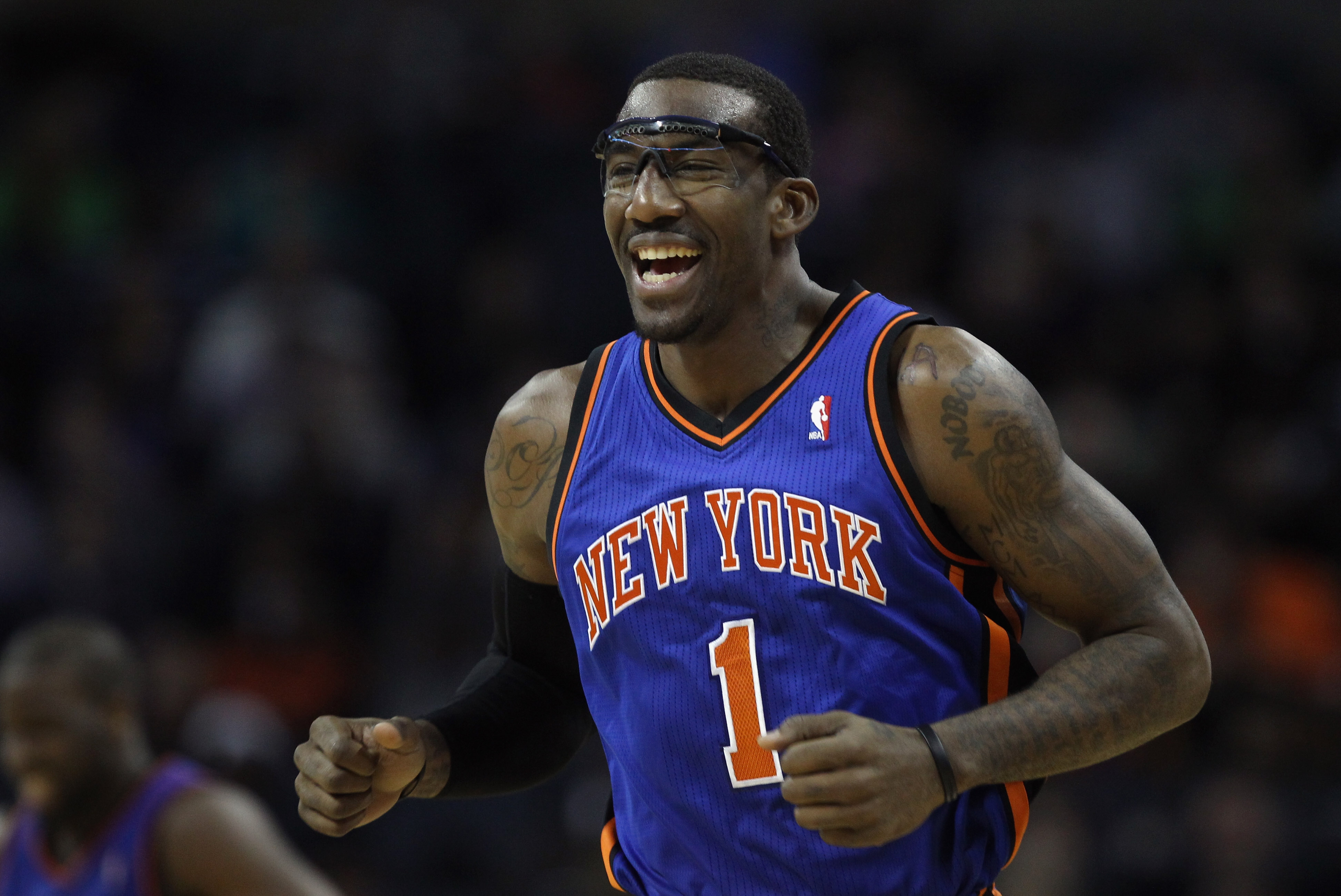 CHARLOTTE, NC - NOVEMBER 24:  Amare Stoudemire #1 of the New York Knicks during his game against the Charlotte Bobcats at Time Warner Cable Arena on November 24, 2010 in Charlotte, North Carolina.  NOTE TO USER: User expressly acknowledges and agrees that