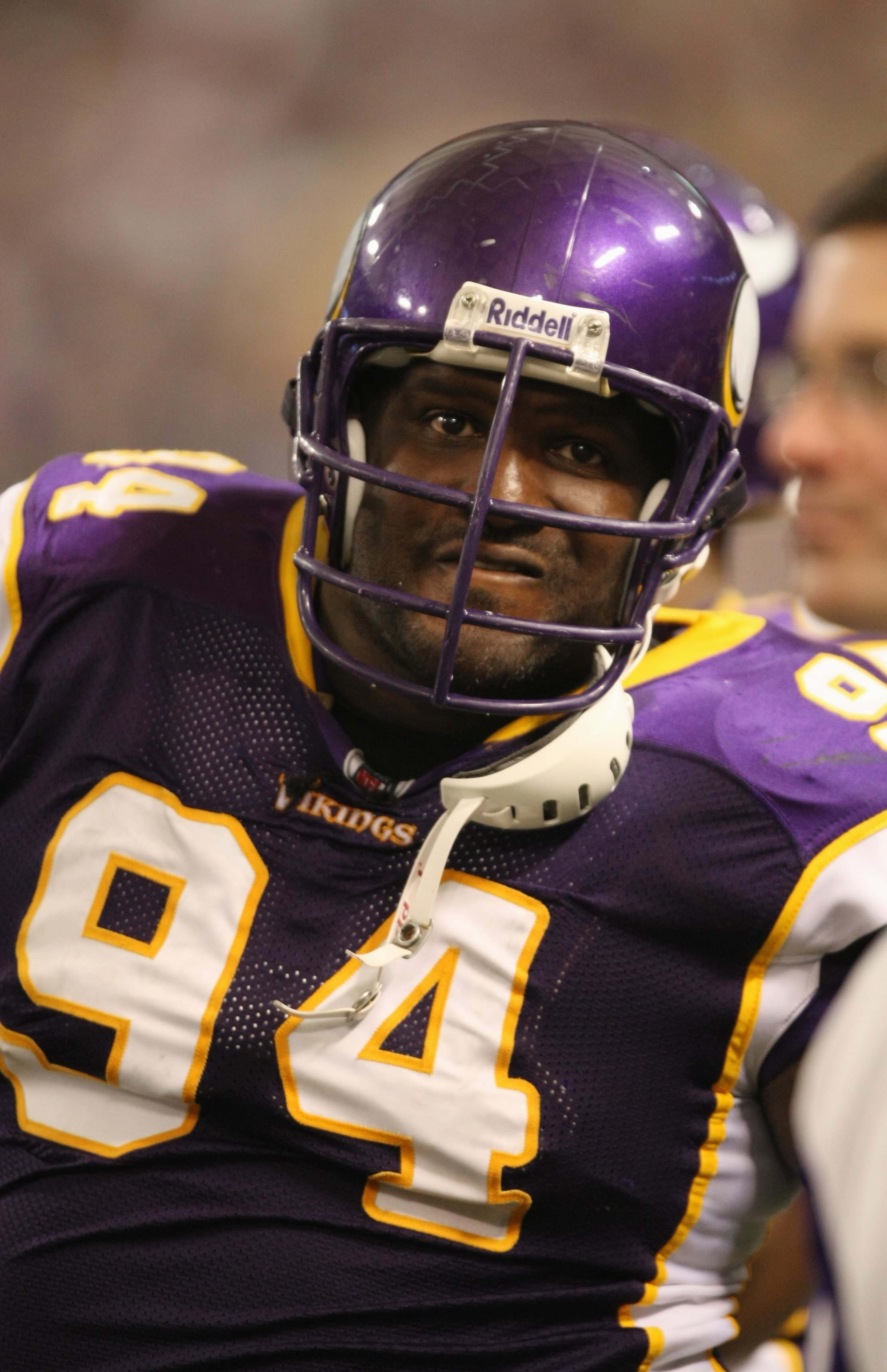 MINNEAPOLIS - SEPTEMBER 21:  Pat Williams #94 of the Minnesota Vikings looks on against the Carolina Panthers during their NFL game at the Hubert H. Humphrey Metrodome on September 21, 2008 in Minneapolis, Minnesota. The Vikings defeated the Panthers 20-1