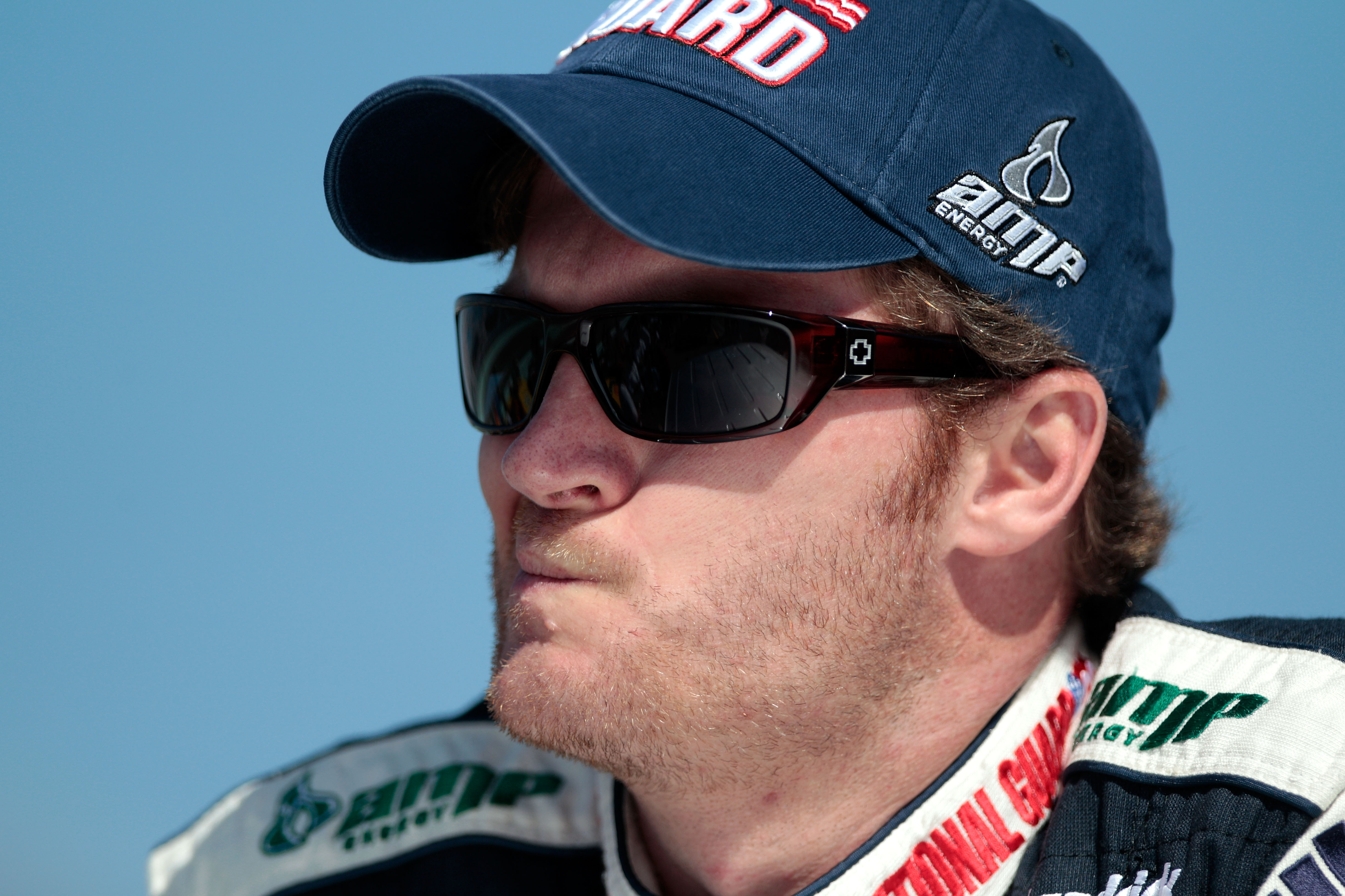 HOMESTEAD, FL - NOVEMBER 21:  Dale Earnhardt Jr., driver of the #88 National Guard/AMP Energy Chevrolet, stands on pit road prior to the NASCAR Sprint Cup Series Ford 400 at Homestead-Miami Speedway on November 21, 2010 in Homestead, Florida.  (Photo by C