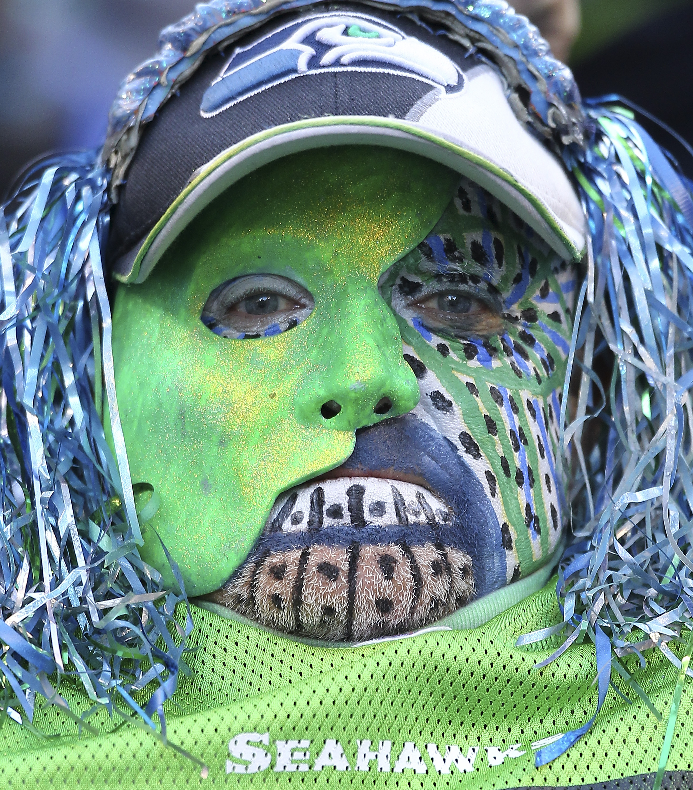 SEATTLE, WA - DECEMBER 19:  A fan looks on during the game between the Seattle Seahawks and the Atlanta Falcons at Qwest Field on December 19, 2010 in Seattle, Washington. The Falcons defeated the Seahawks 34-18. (Photo by Otto Greule Jr/Getty Images)