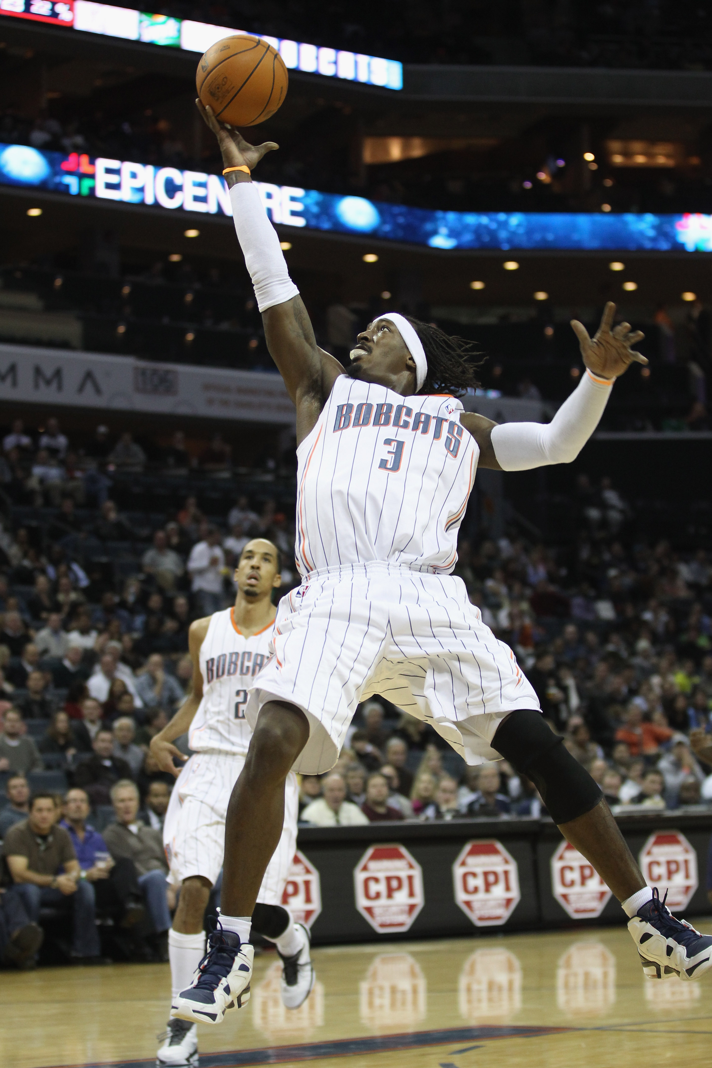 CHARLOTTE, NC - DECEMBER 07:  Gerald Wallace #3 of the Charlotte Bobcats against the Denver Nuggets during their game at Time Warner Cable Arena on December 7, 2010 in Charlotte, North Carolina.  NOTE TO USER: User expressly acknowledges and agrees that,