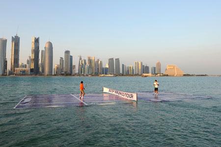 Federer and Nadal began the season on a floating platform.