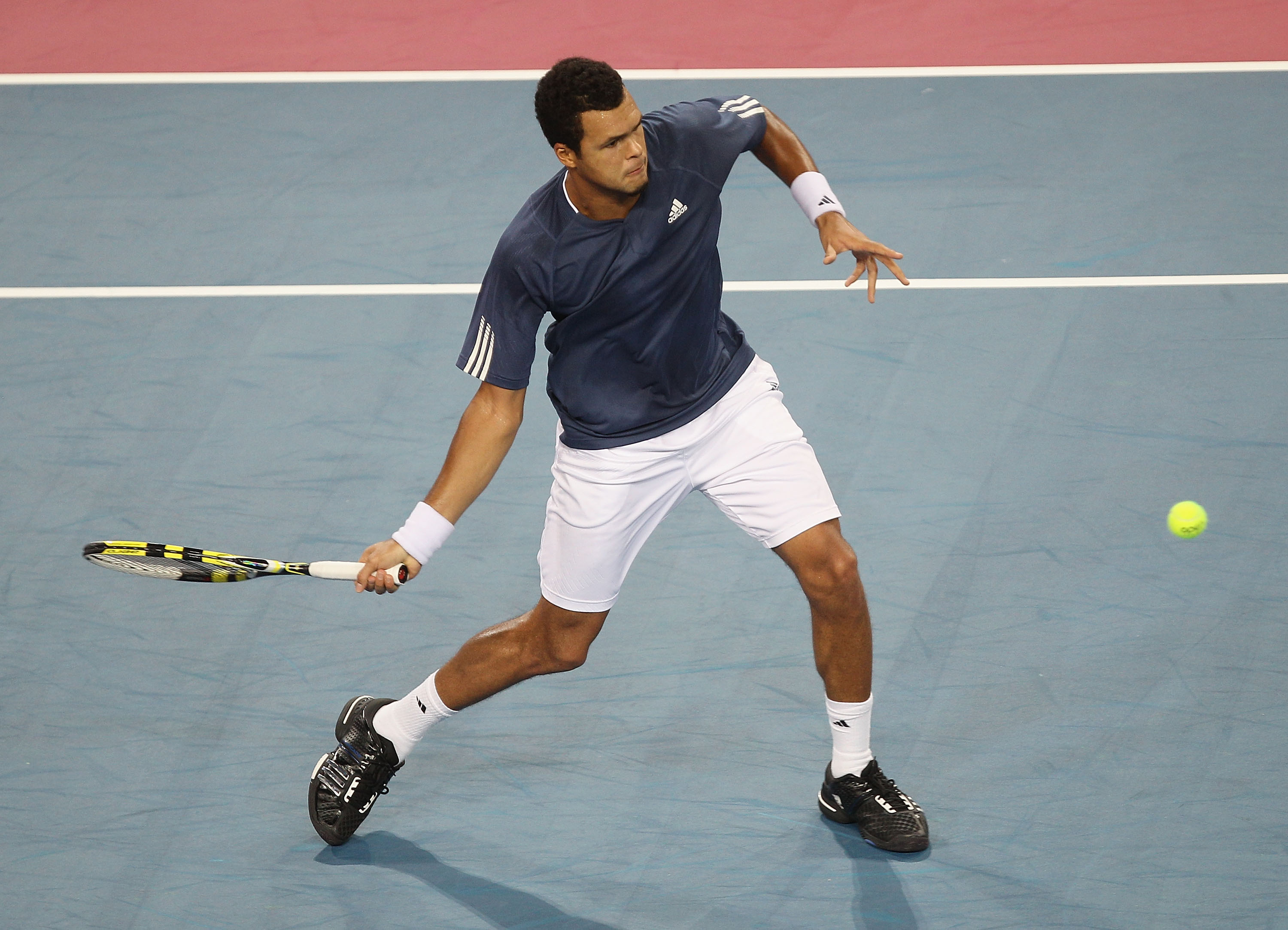 Tsonga missed the last few tournaments of 2010 due to a knee injury.