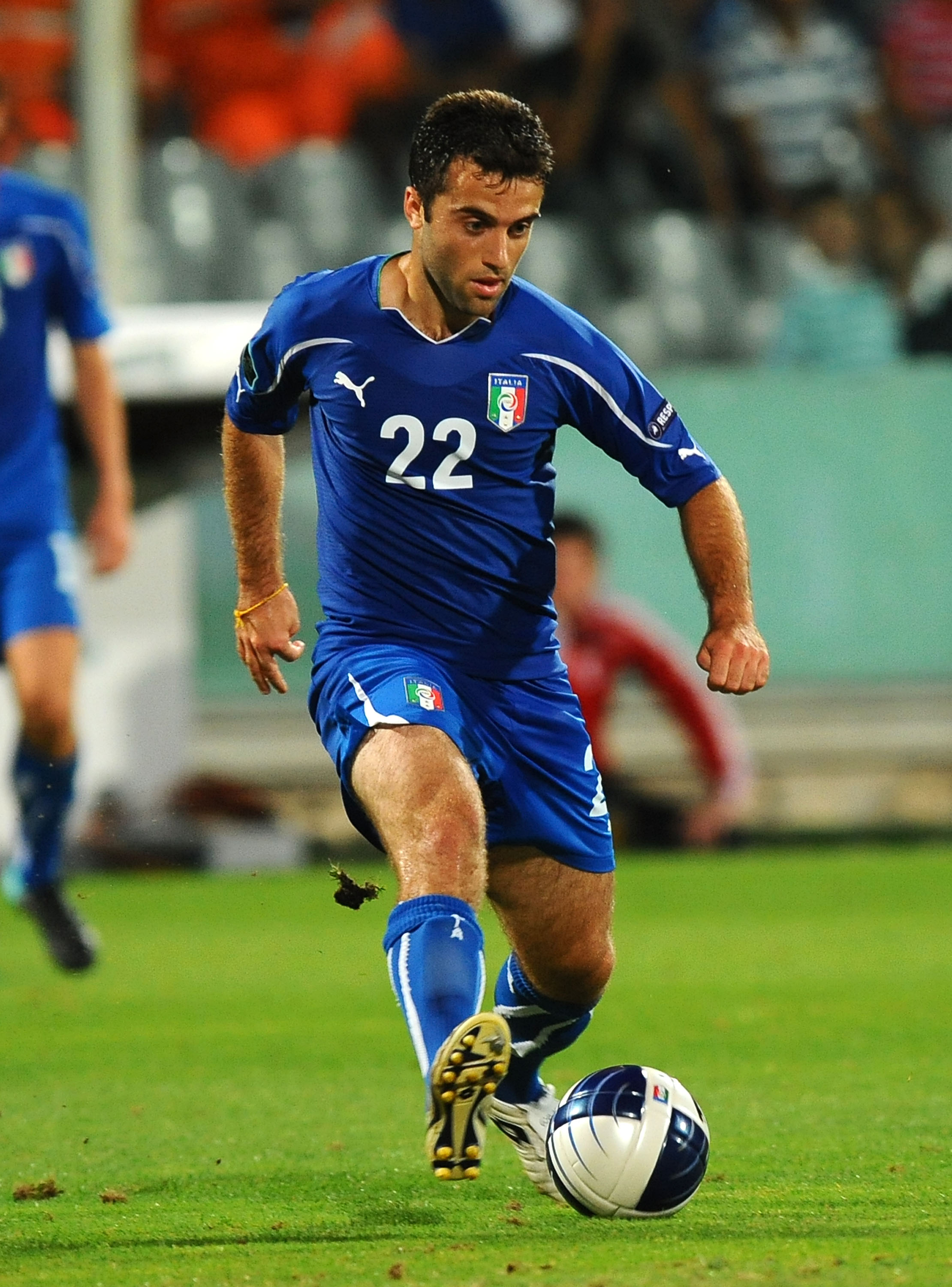 FLORENCE, ITALY - SEPTEMBER 07: Giuseppe Rossi  of Italy in action during the Euro 2012 qualifying match between Italy and Faroe Islands at Stadio Artemio Franchi on September 7, 2010 in Florence, Italy. (Photo by Massimo Cebrelli/Getty Images)
