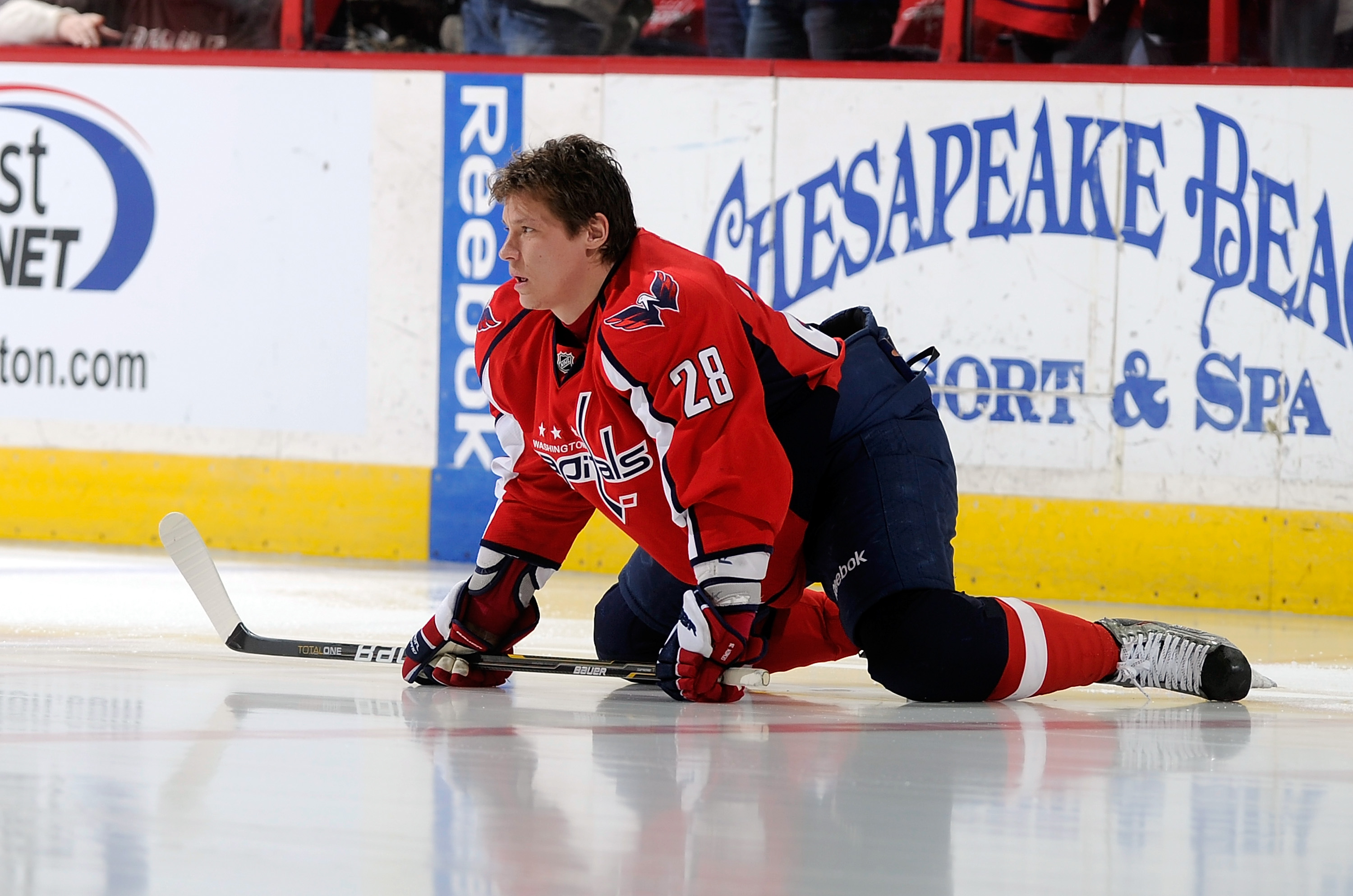 WASHINGTON - JANUARY 08:  Alexander Semin #28 of the Washington Capitals warms up before the game against the Florida Panthers at the Verizon Center on January 8, 2011 in Washington, DC.  (Photo by Greg Fiume/Getty Images)