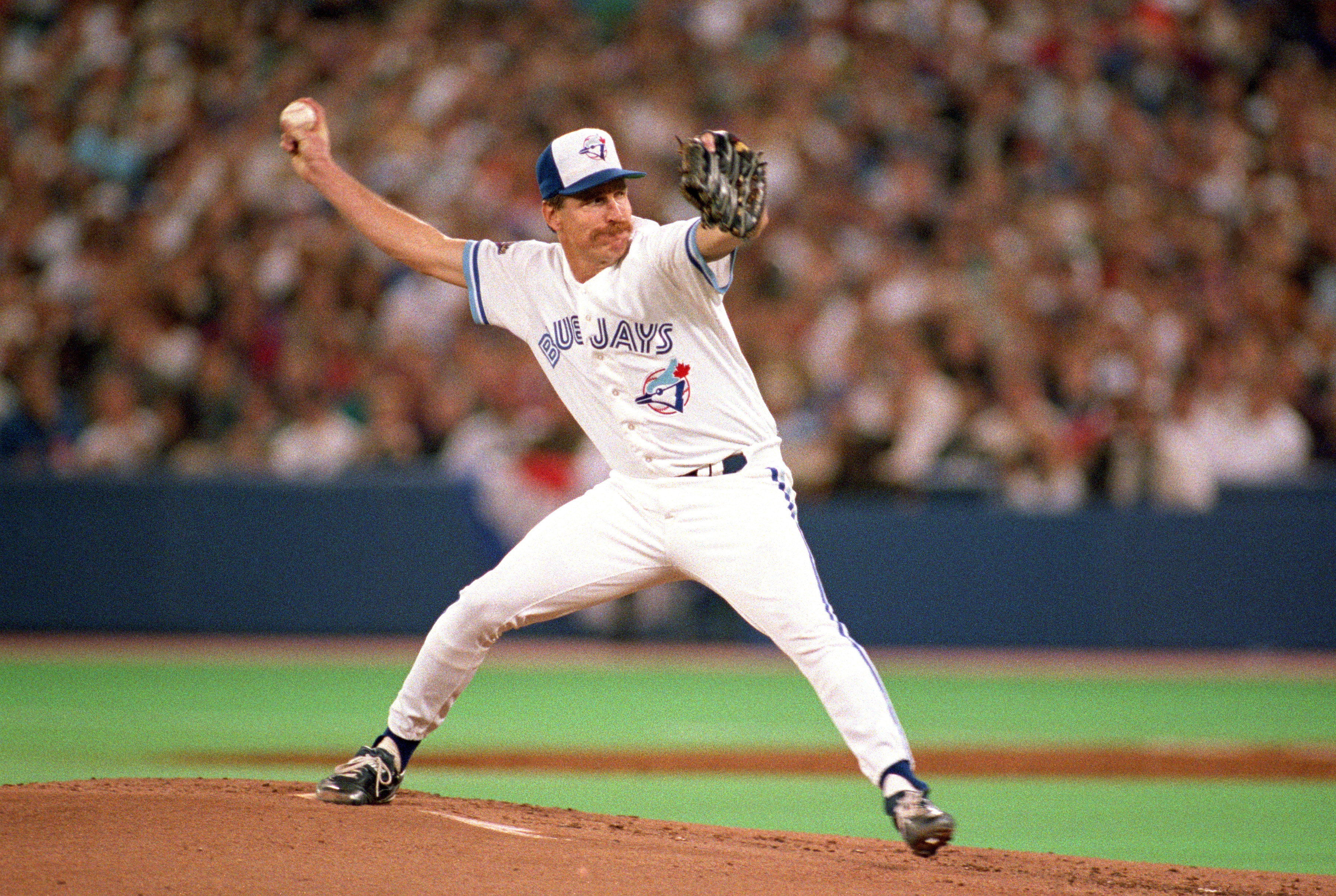TORONTO - OCTOBER 22:  Pitcher Jack Morris #47 of the Toronto Blue Jays on the mound during game 5 of the World Series against the Atlanta Braves on October 22, 1992 at the Skydome in Toronto, Canada. (Photo by Rick Stewart/Getty Images)