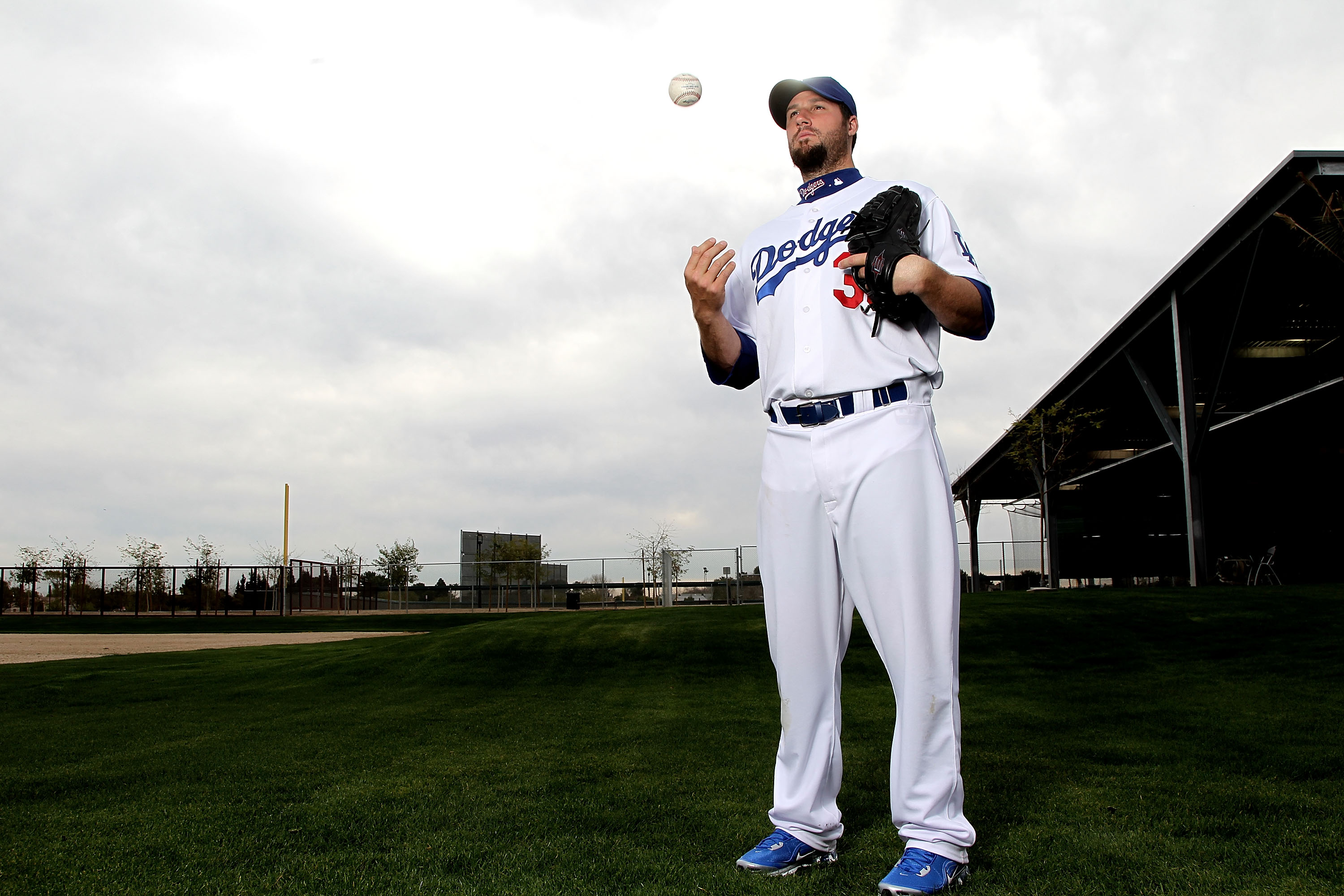 GLENDALE, AZ - FEBRUARY 27:  Eric Gagne of the Los Angeles Dodgers poses during media photo day on February 27, 2010 at the Ballpark at Camelback Ranch, in Glendale, Arizona.  (Photo by Jed Jacobsohn/Getty Images)