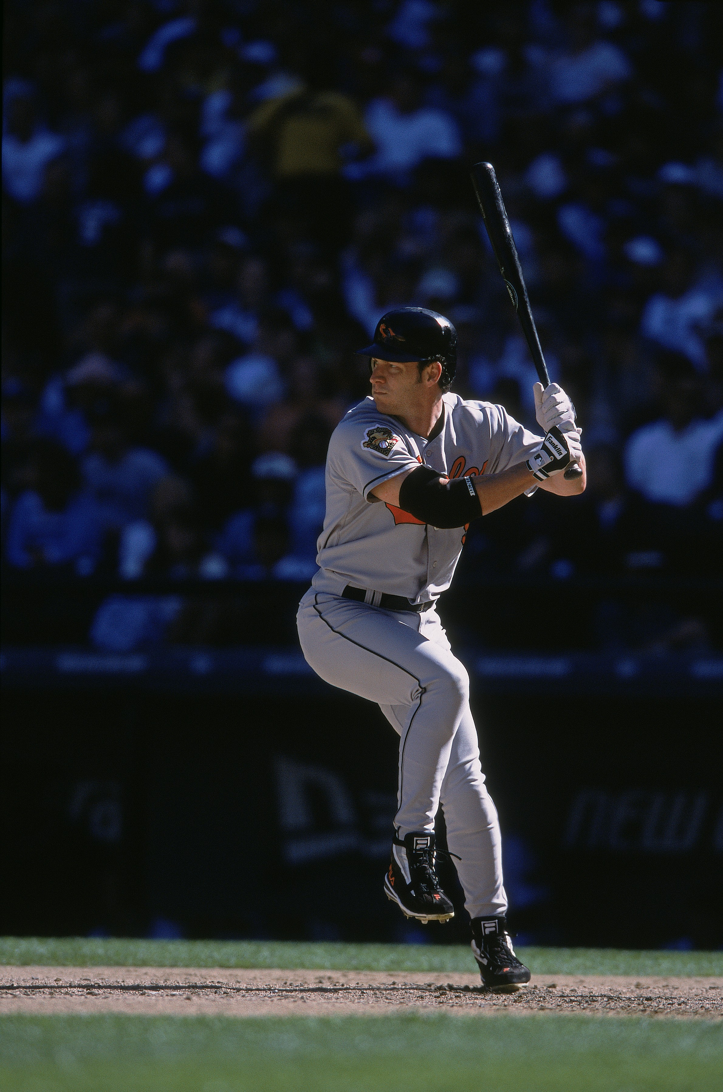 9 Sep 2001:   Brady Anderson #9 of the Baltimore Orioles at bat during the game against the Seattle Mariners at Safeco Field in Seatte, Washington. The Mariners defeated the Orioles 6-0.Mandatory Credit: Otto Greule  /Allsport