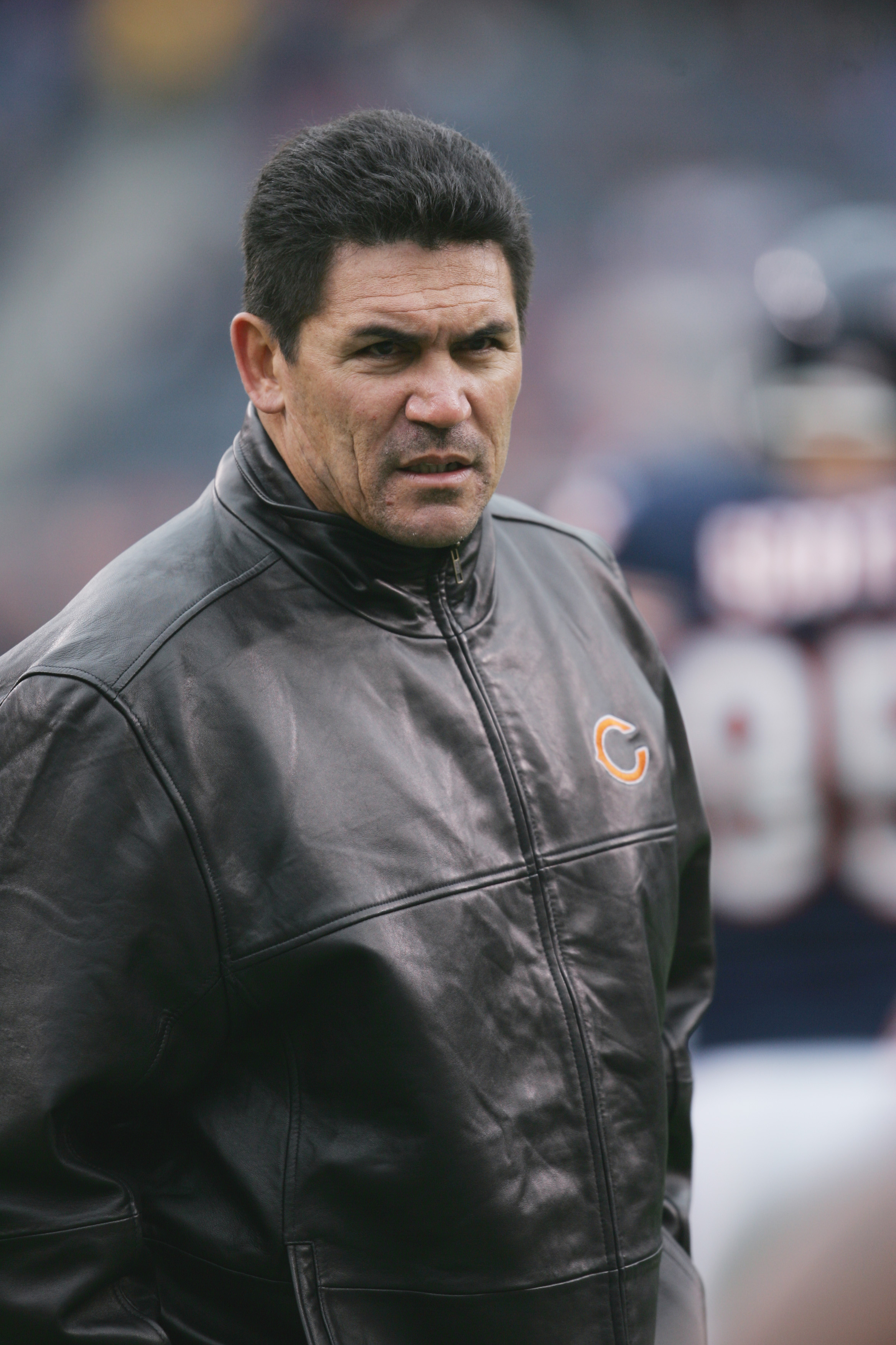 CHICAGO - NOVEMBER 20:  Defensive coordinator Ron Rivera of the Chicago Bears looks on against the Carolina Panthers at Soldier Field on November 20, 2005 in Chicago, Illinois. The Bears defeated the Panthers 13-3. (Photo by Jonathan Daniel/Getty Images)