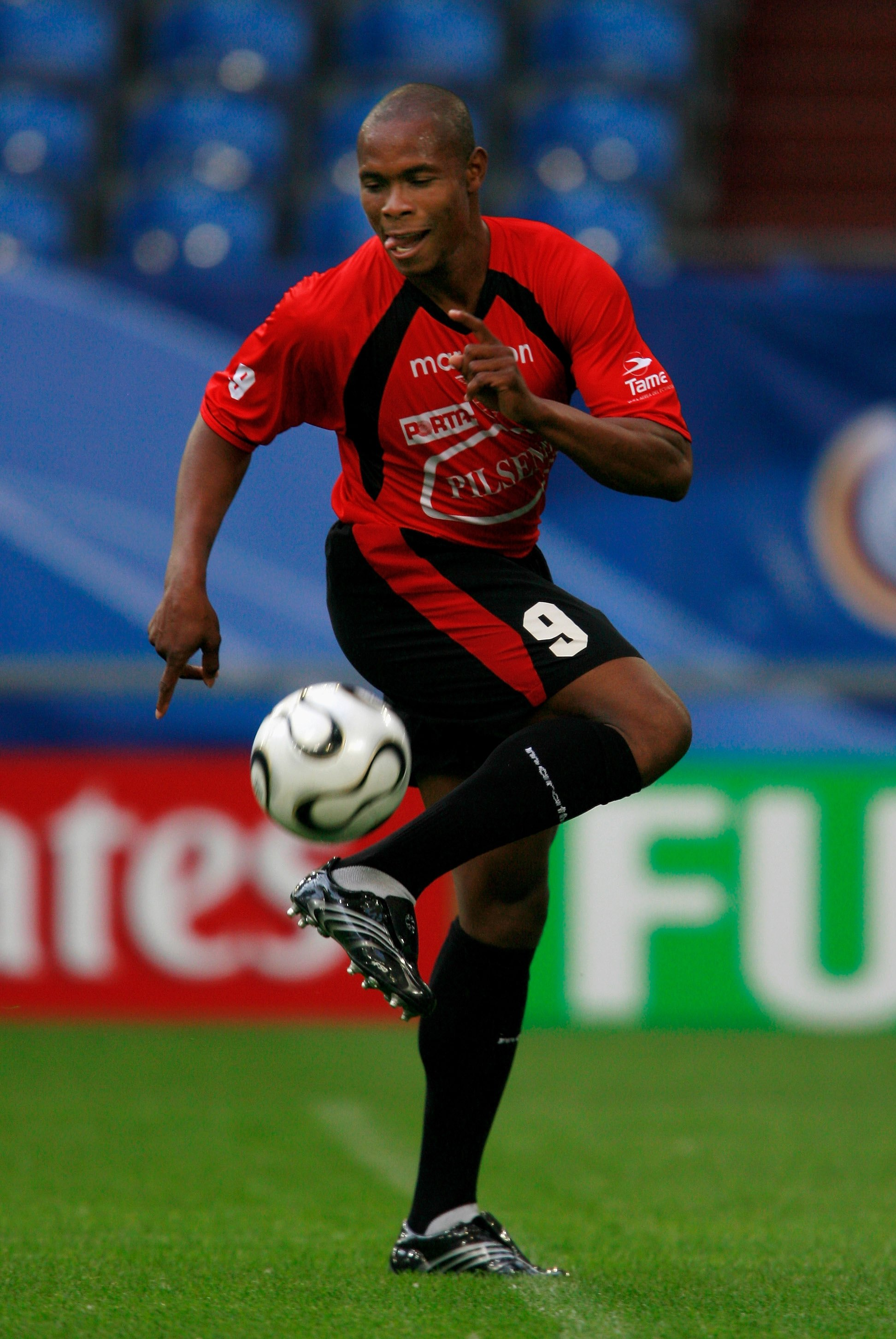 GELSENKIRCHEN, GERMANY - JUNE 08:  Felix Borja of Ecuador in action during a training session for the Ecuador National Team at on June 8, 2006 at Stadium Gelsenkirchen in Gelsenkirchen, Germany.  (Photo by Jamie McDonald/Getty Images)
