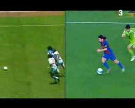 Maradona the master; Messi the apprentice
