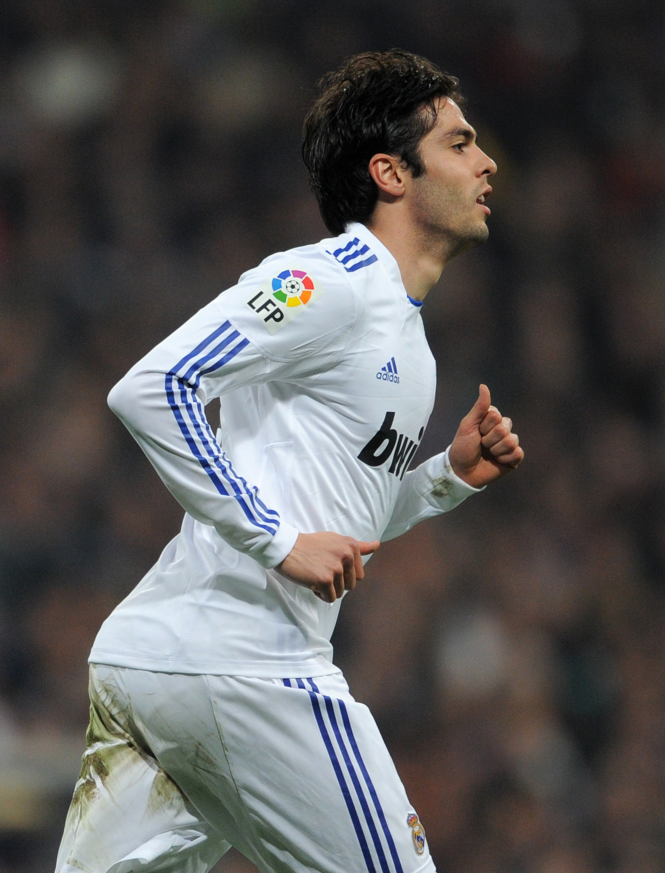 MADRID, SPAIN - JANUARY 13:  Kaka of Real Madrid looks on during the quarter-final Copa del Rey first leg match between Real Madrid and Atletico Madrid at Estadio Santiago Bernabeu on January 13, 2011 in Madrid, Spain.  (Photo by Jasper Juinen/Getty Image