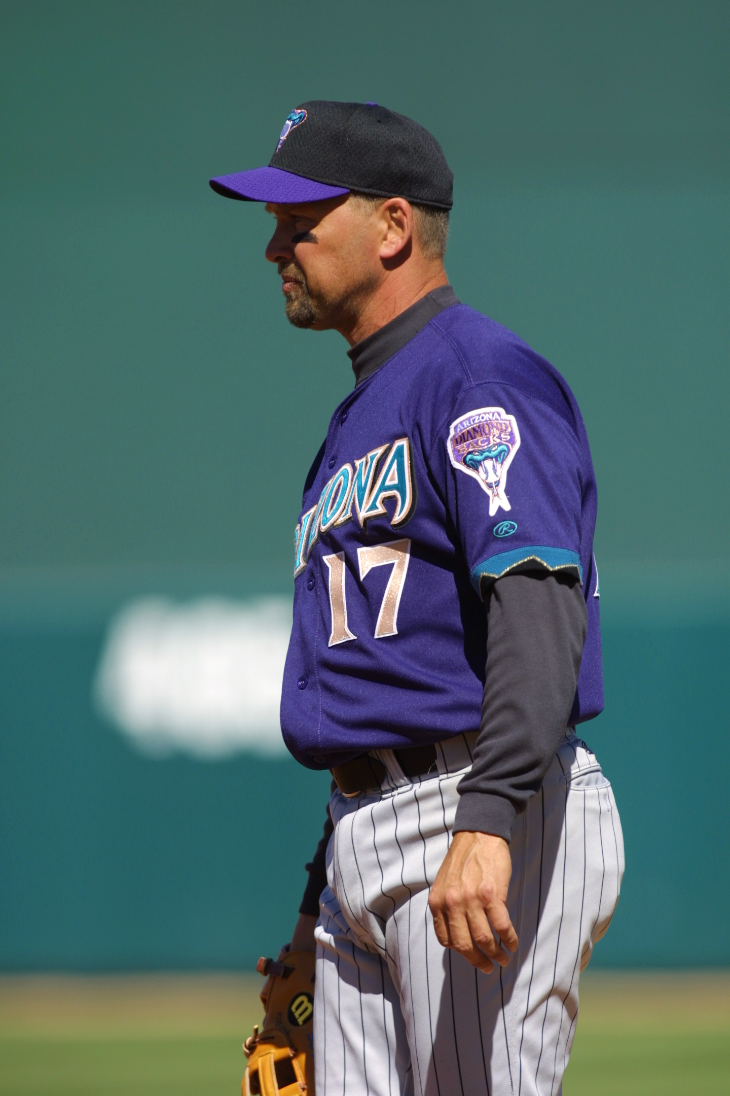 03 Mar 2002 : Mark Grace of the Arizona Diamondbacks during the Spring Training Game against the Chicago White Sox at Tucson Electric Field in Tucson, Arizona. The White Sox won 7-5. DIGITAL IMAGE. Mandatory Credit: Todd Warshaw/Getty Images