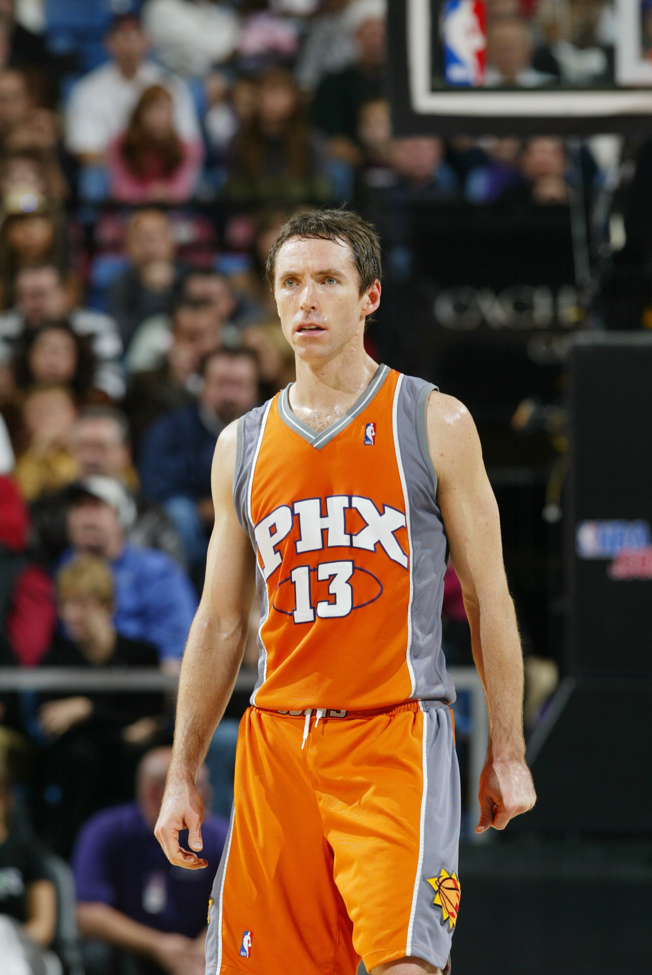 SACRAMENTO, CA - DECEMBER 16:  Steve Nash #13 of the Phoenix Suns stands on the court during the NBA game against the Sacramento Kings at Arco Arena on December 16, 2006 in Sacramento, California. The Suns won 105-98. NOTE TO USER: User expressly acknowle