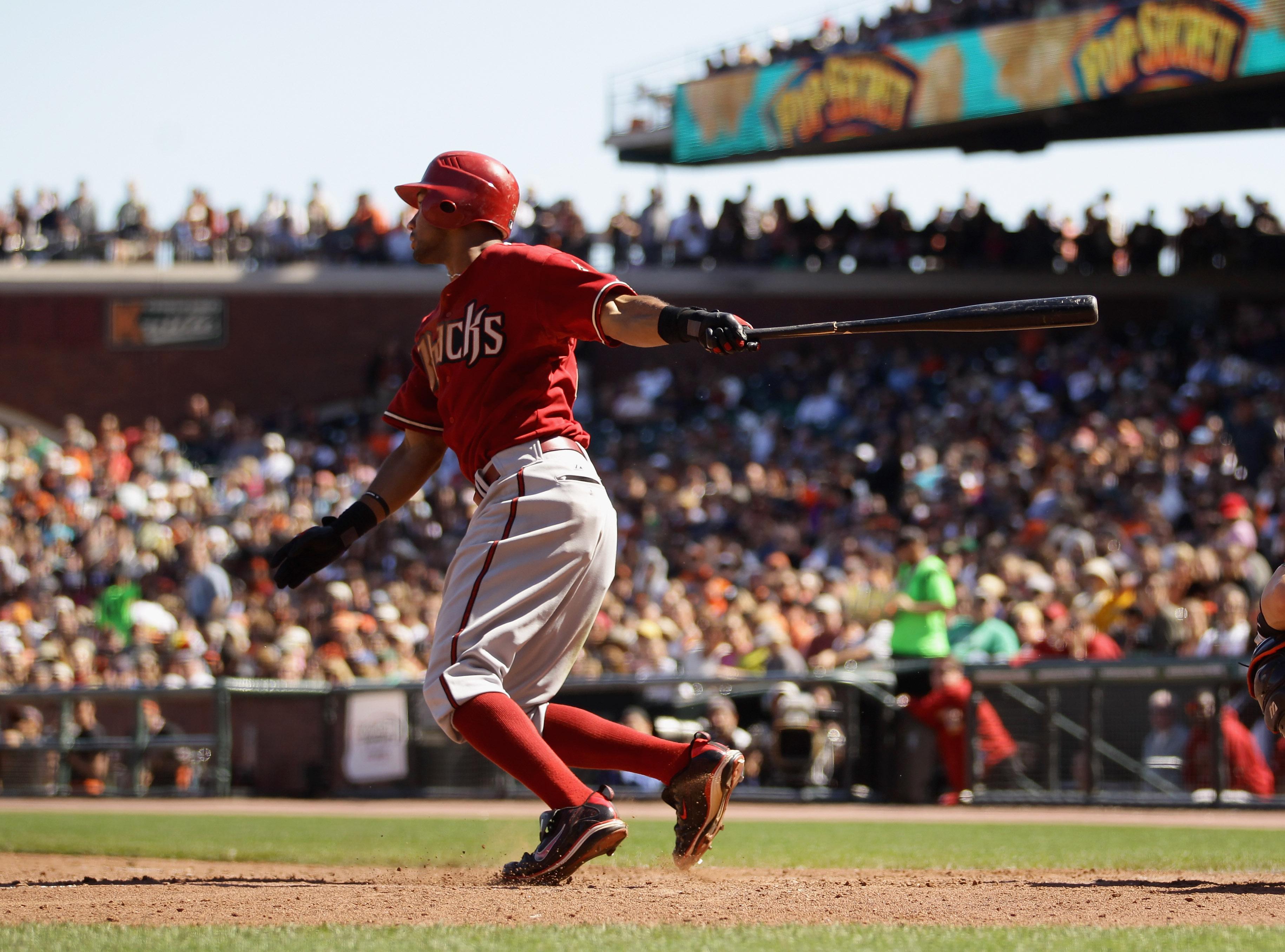SAN FRANCISCO - AUGUST 29:  Chris Young #24 of the Arizona Diamondbacks bats against the San Francisco Giants at AT&T Park on August 29, 2010 in San Francisco, California.  (Photo by Ezra Shaw/Getty Images)