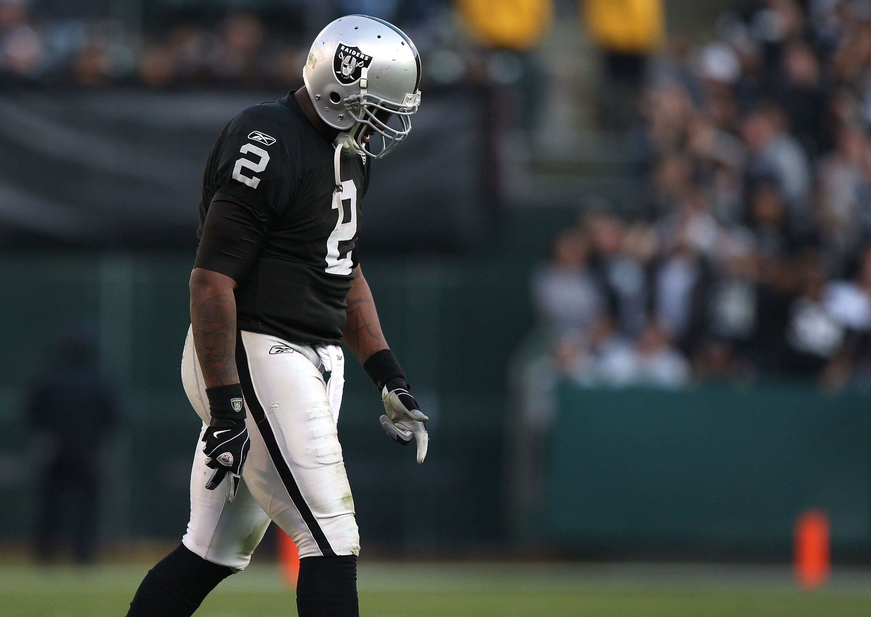Sick of seeing this image? Sorry, but nothing better personifies the Raiders' troubles.