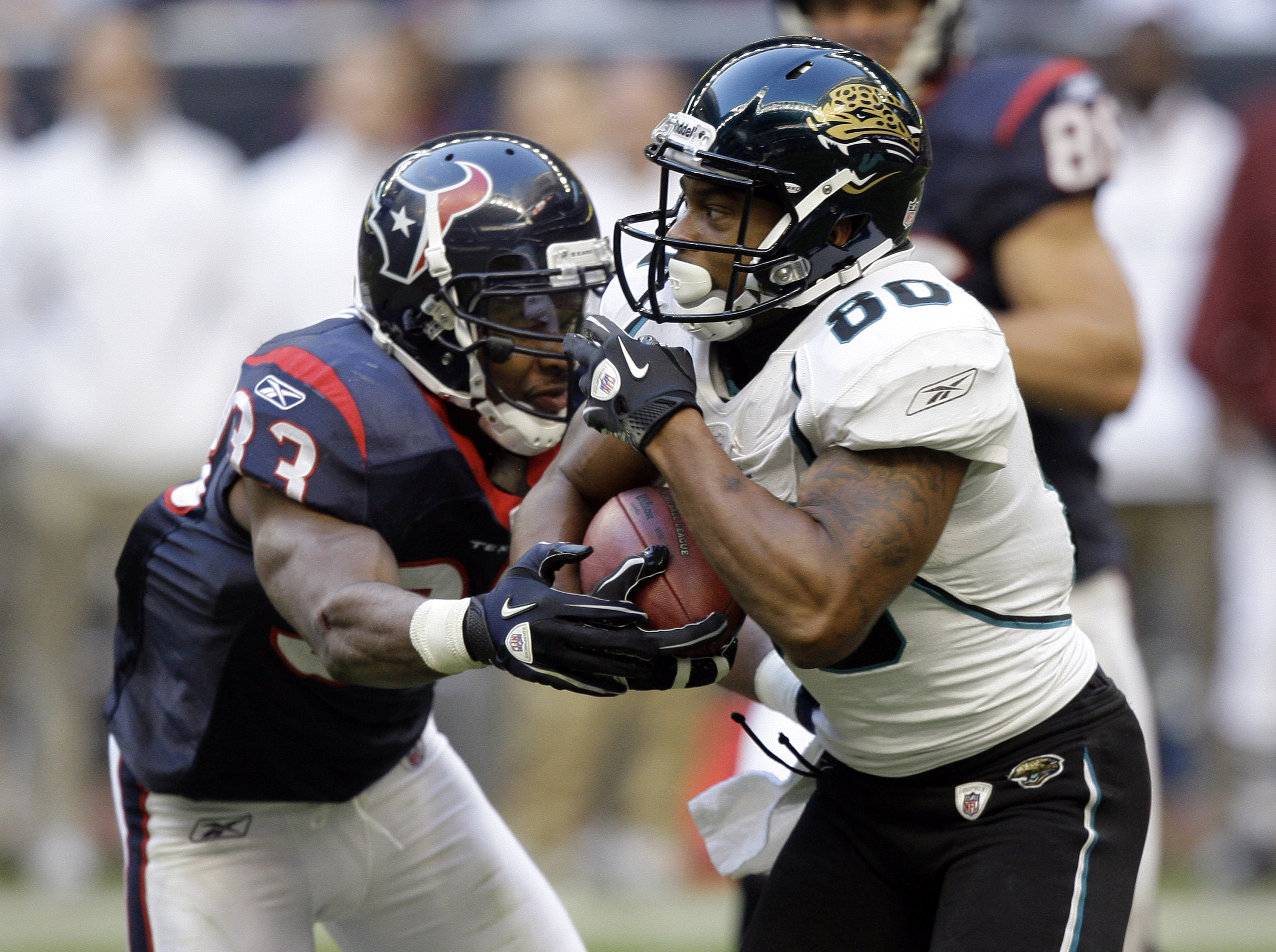 The Jaguars and Texans are the only two teams to never play in a league championship game.