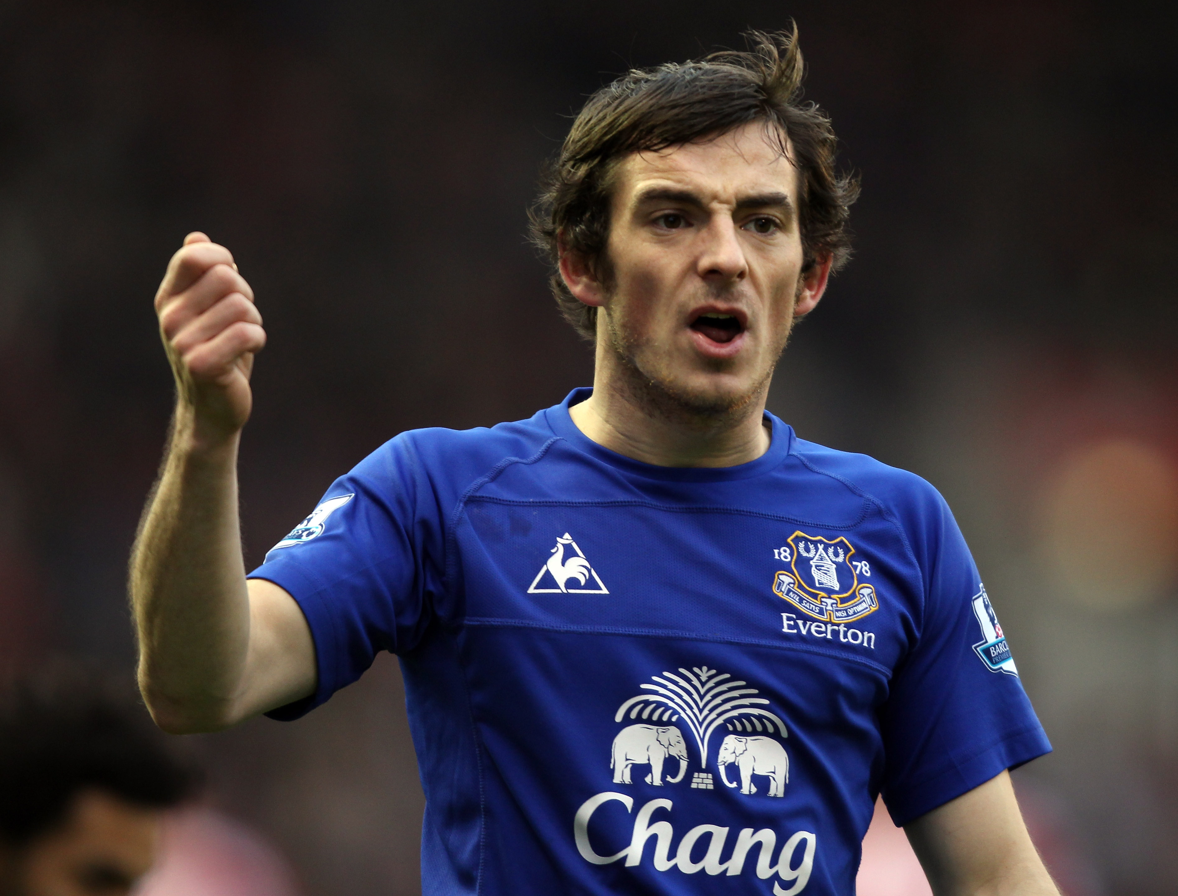 STOKE ON TRENT, ENGLAND - JANUARY 01:  Leighton Baines of Everton during the Barclays Premier League match between Stoke City and Everton at the Britannia Stadium on January 1, 2011 in Stoke on Trent, England.  (Photo by Ross Kinnaird/Getty Images)