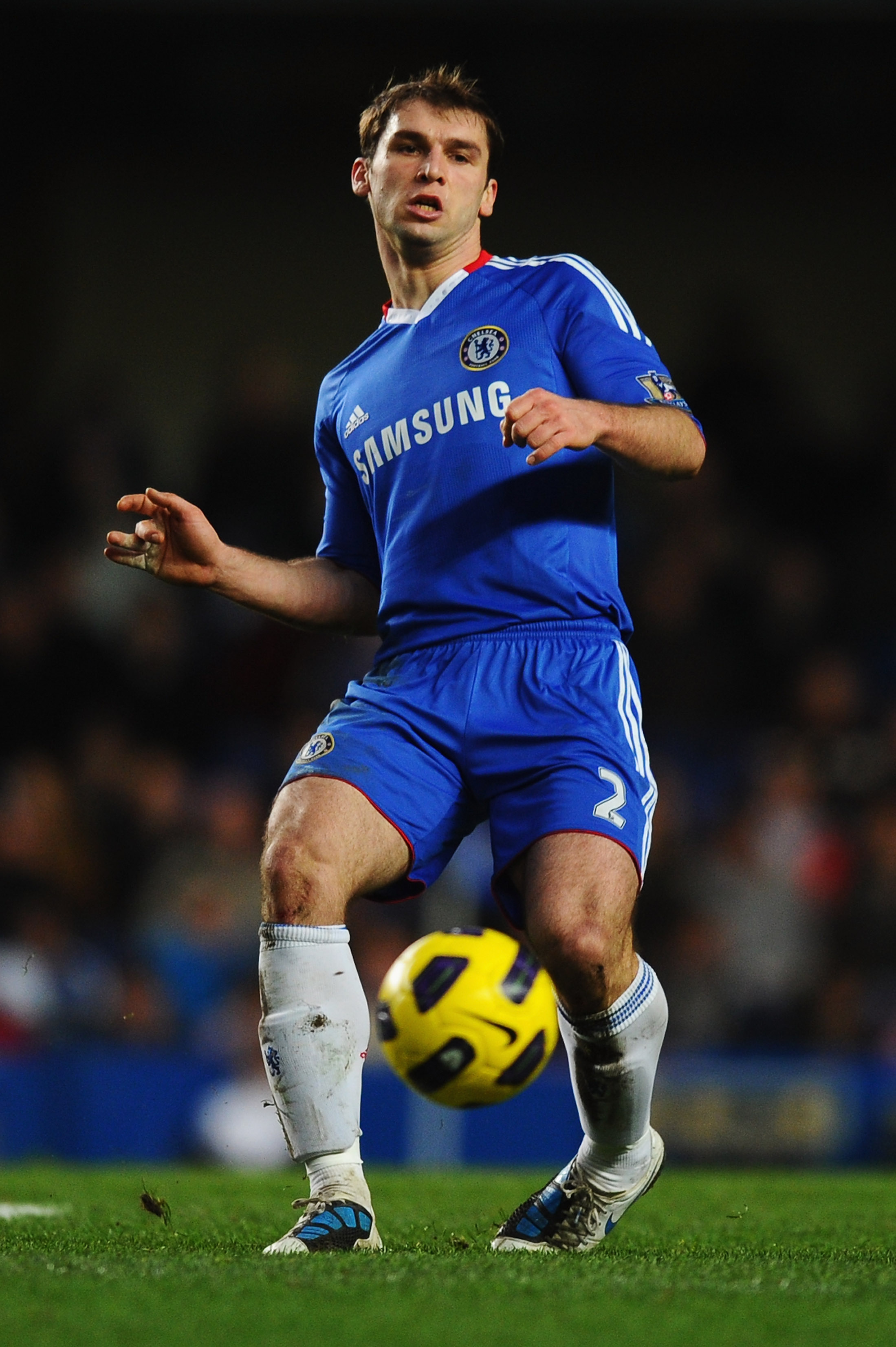 LONDON, ENGLAND - JANUARY 15:  Branislav Ivanovic of Chelsea in action during the Barclays Premier League match between Chelsea and Blackburn Rovers at Stamford Bridge on January 15, 2011 in London, England.  (Photo by Mike Hewitt/Getty Images)