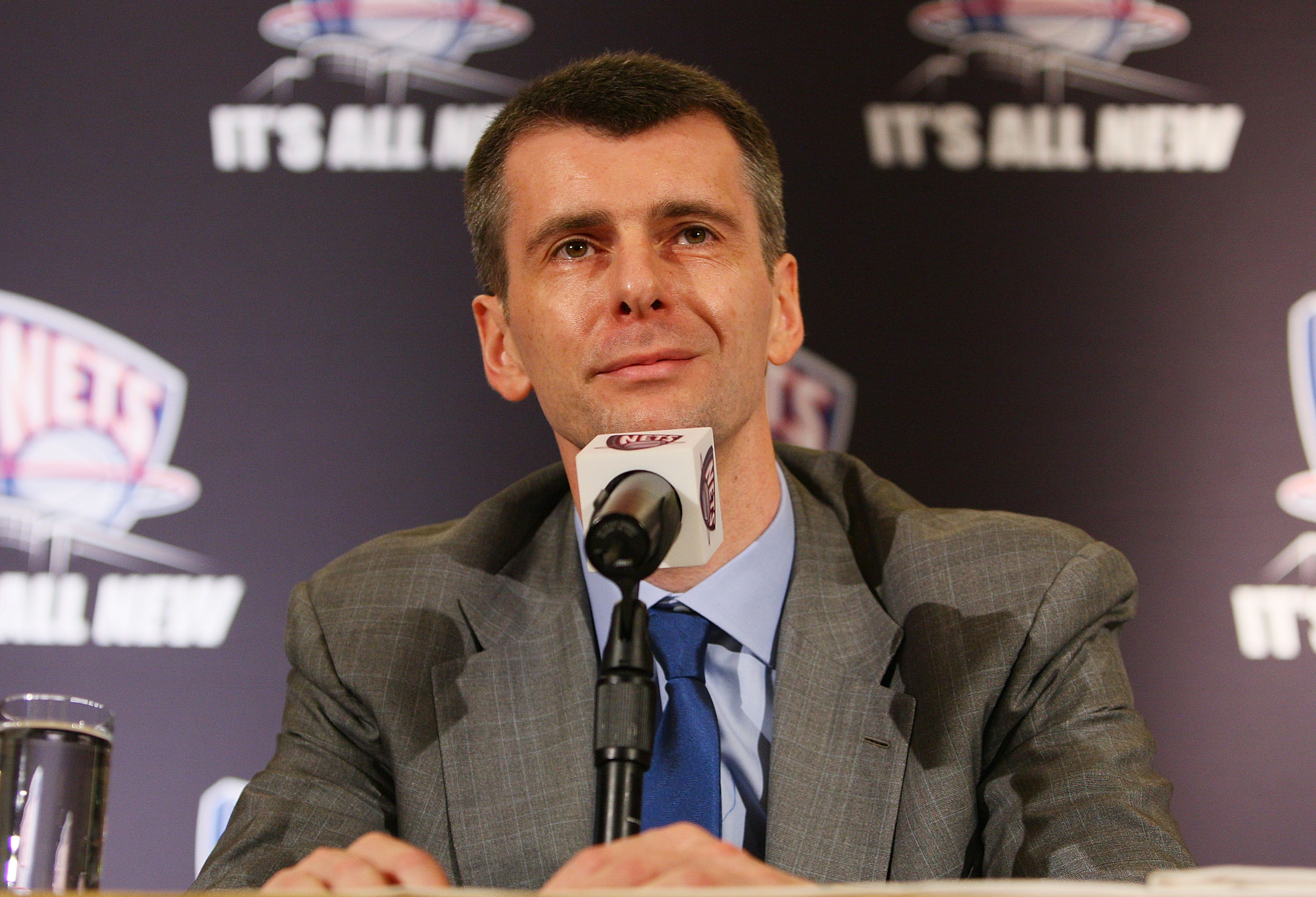 1e1419af1f9 NEW YORK - MAY 19  New Jersey Nets owner Mikhail Prokhorov addresses the  media during