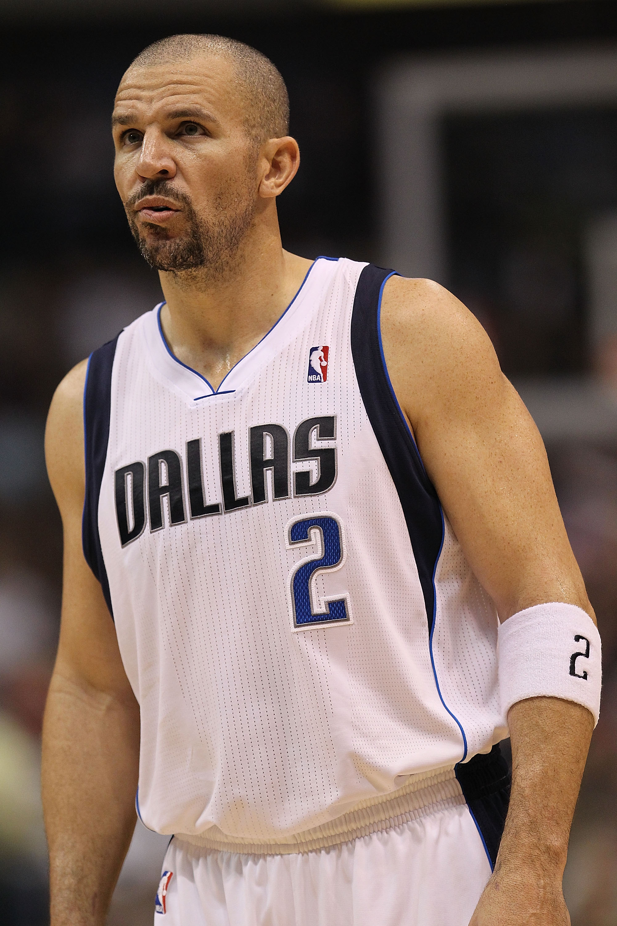 DALLAS, TX - DECEMBER 15:  Guard Jason Kidd #2 of the Dallas Mavericks at American Airlines Center on December 15, 2010 in Dallas, Texas. NOTE TO USER: User expressly acknowledges and agrees that, by downloading and or using this photograph, User is conse
