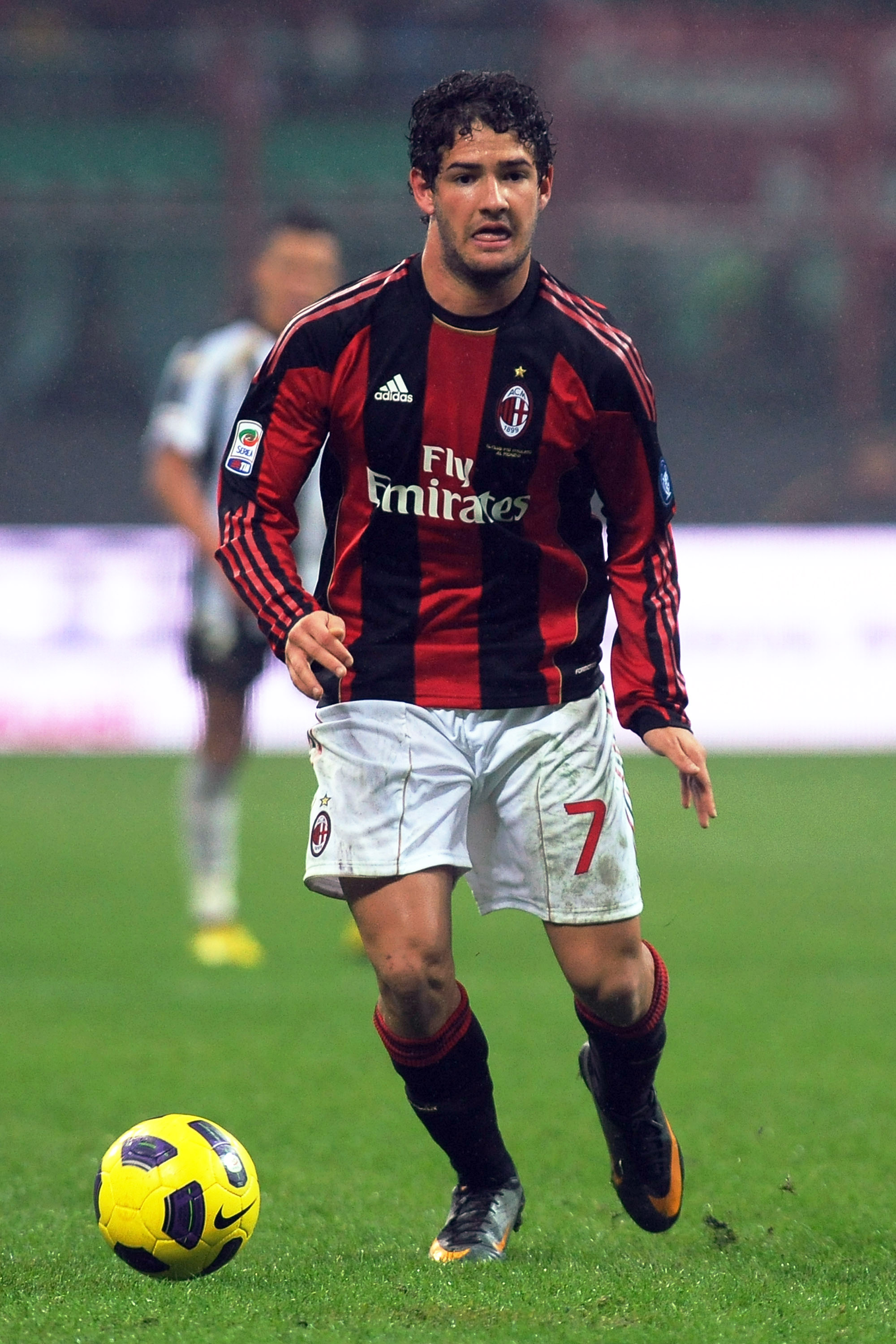 MILAN, ITALY - JANUARY 09:  Pato of AC Milan in action during the Serie A match between AC Milan and Udinese Calcio at Stadio Giuseppe Meazza on January 9, 2011 in Milan, Italy.  (Photo by Valerio Pennicino/Getty Images)
