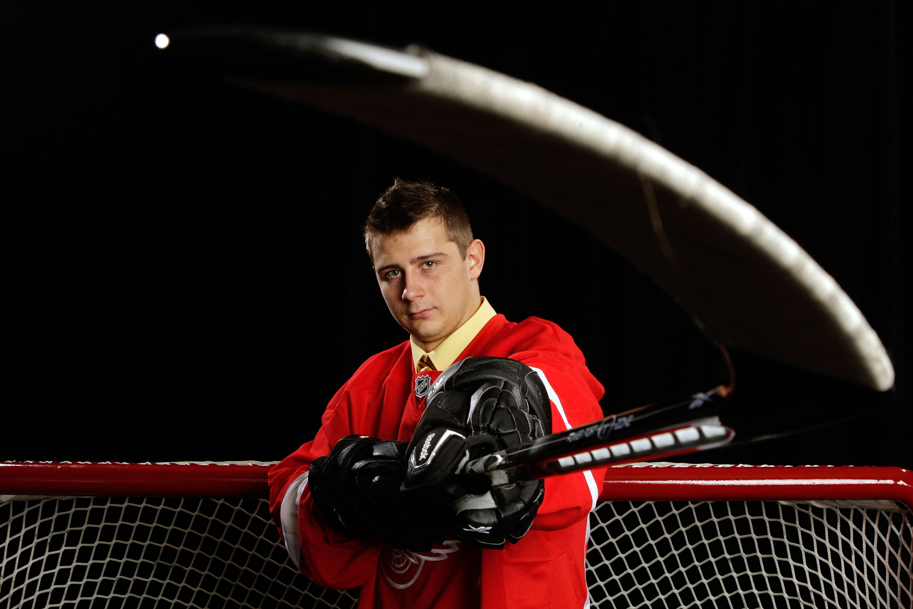 MONTREAL, QC - JUNE 27:  Tomas Tatar of the Detroit Red Wings poses for a portrait during the 2009 NHL Entry Draft at the Bell Centre on June 26, 2009 in Montreal, Quebec, Canada.  (Photo by Jamie Squire/Getty Images)