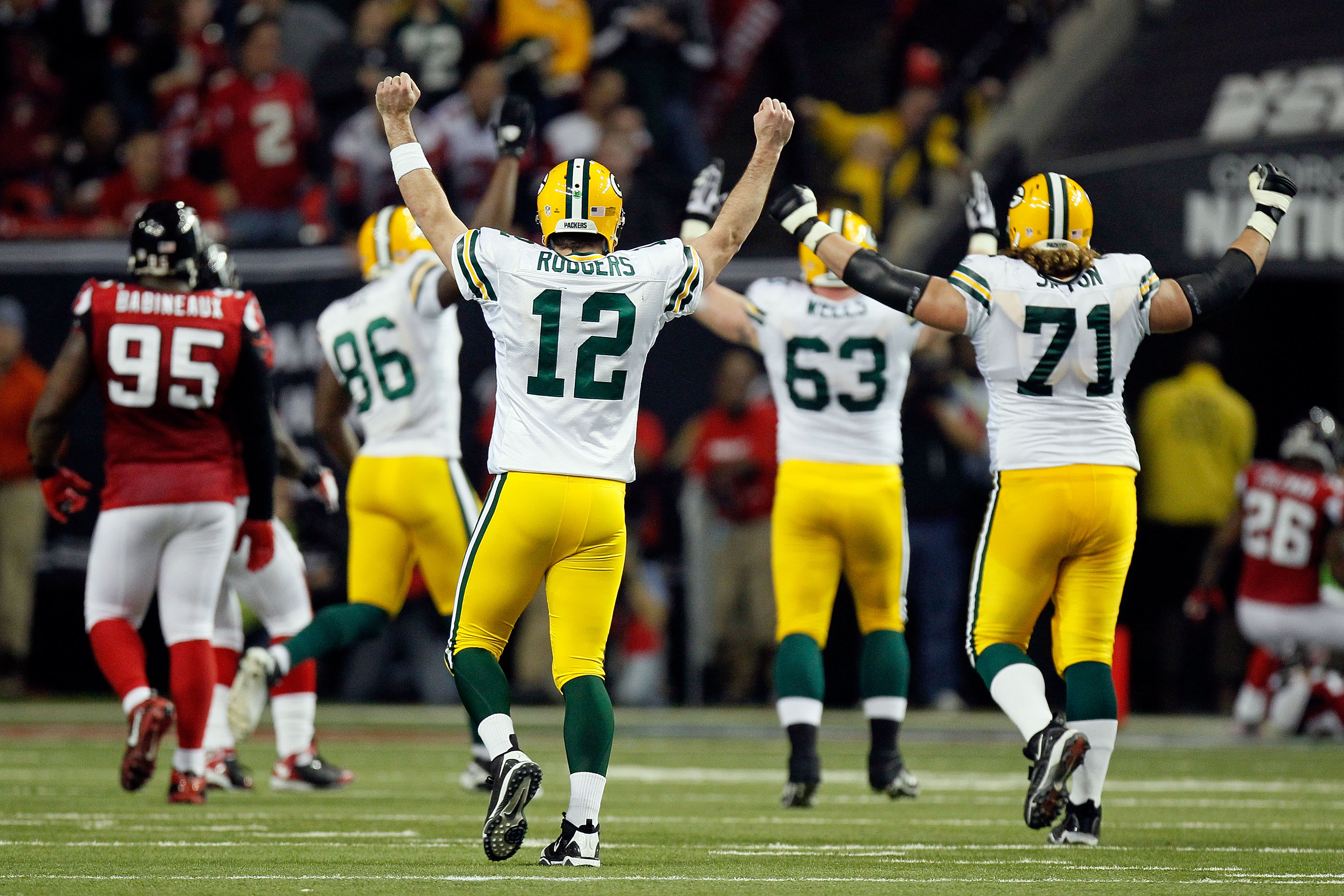 Rodgers makes a statement against Atlanta