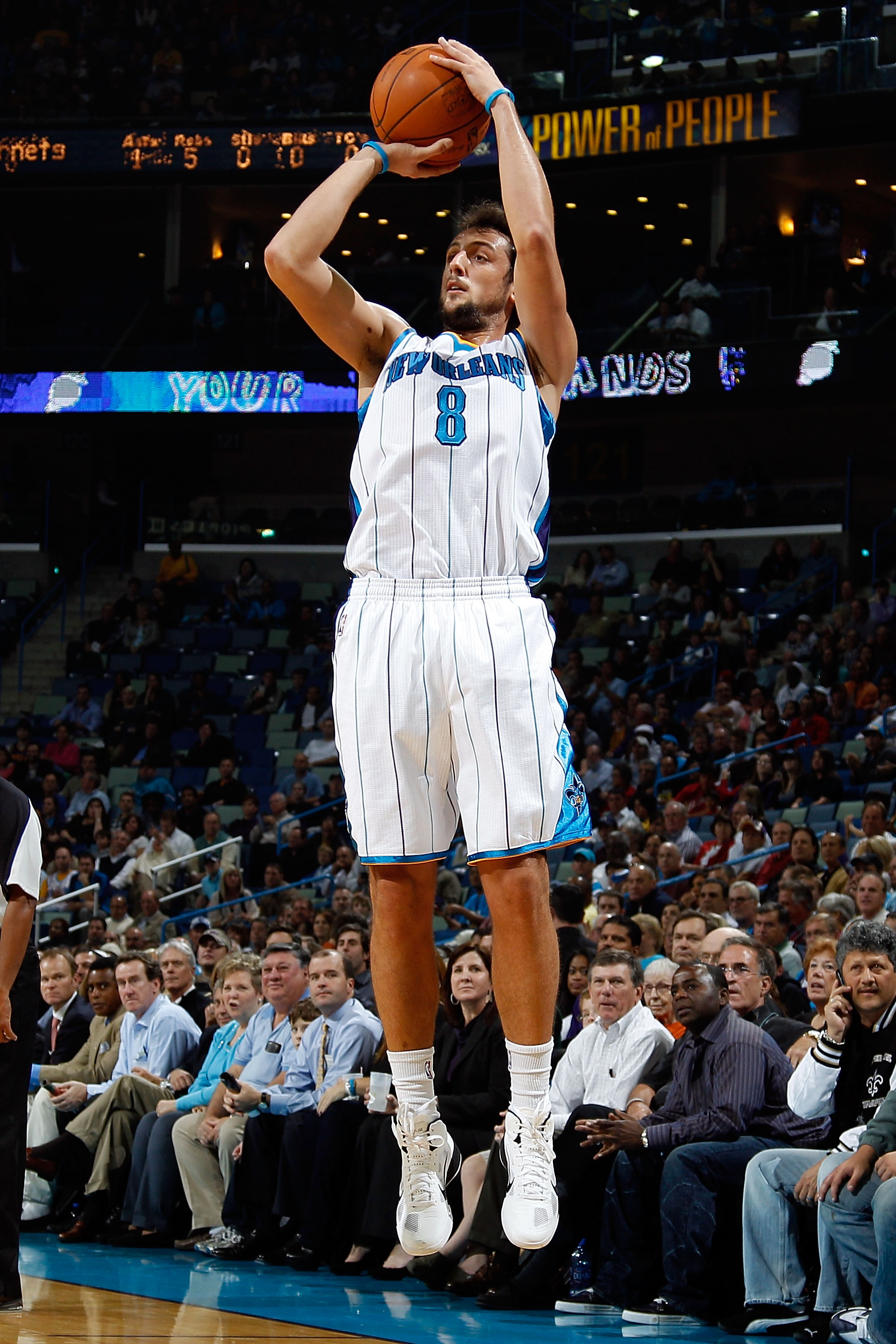 Marco Belinelli of the New Orleans Hornets
