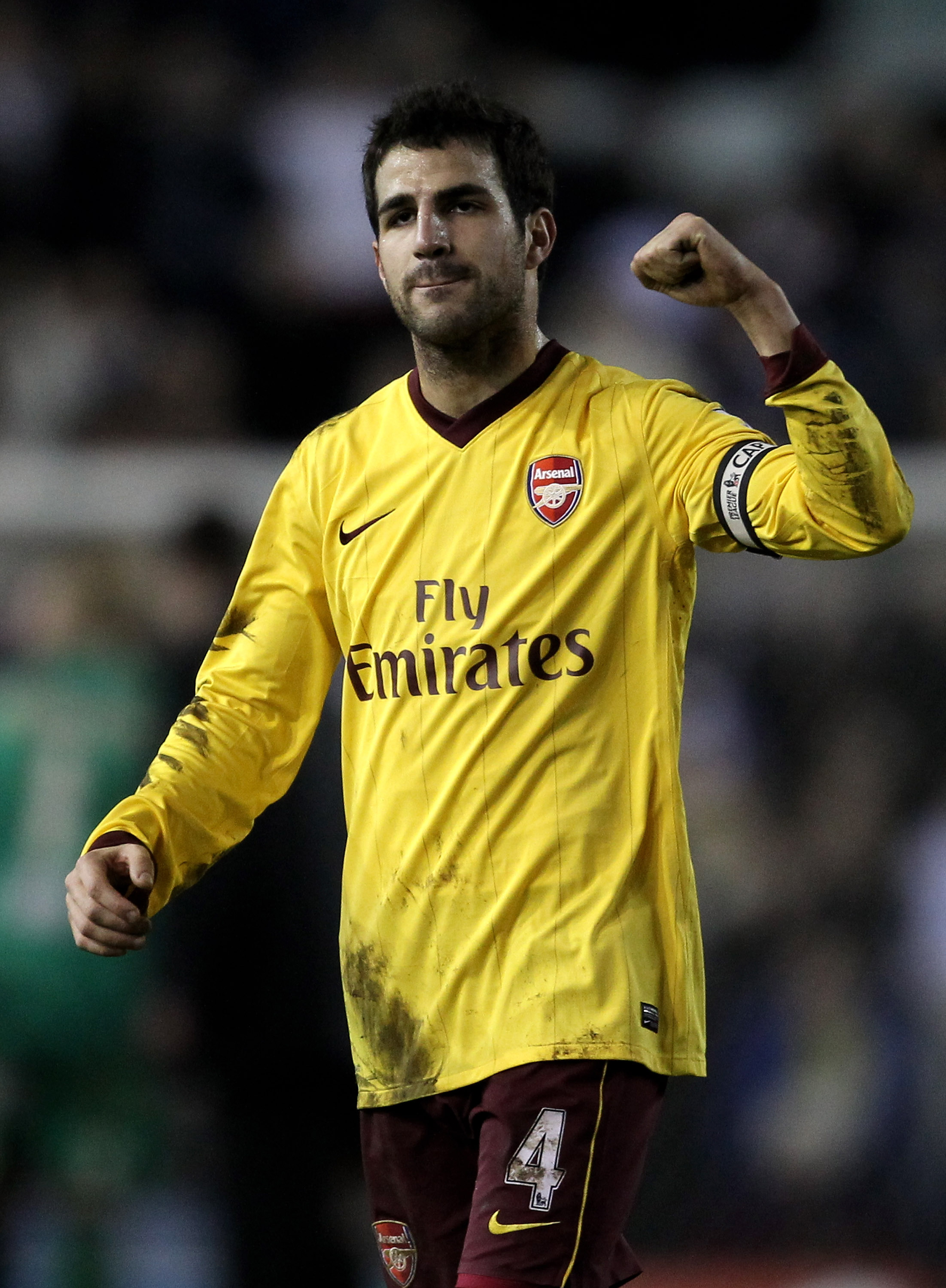 LEEDS, UNITED KINGDOM - JANUARY 19:  Cesc Fabregas of Arsenal celebrates at the end of the FA Cup sponsored by E.On Third Round Replay match between Leeds United and Arsenal at Elland Road on January 19, 2011 in Leeds, England. (Photo by Alex Livesey/Gett