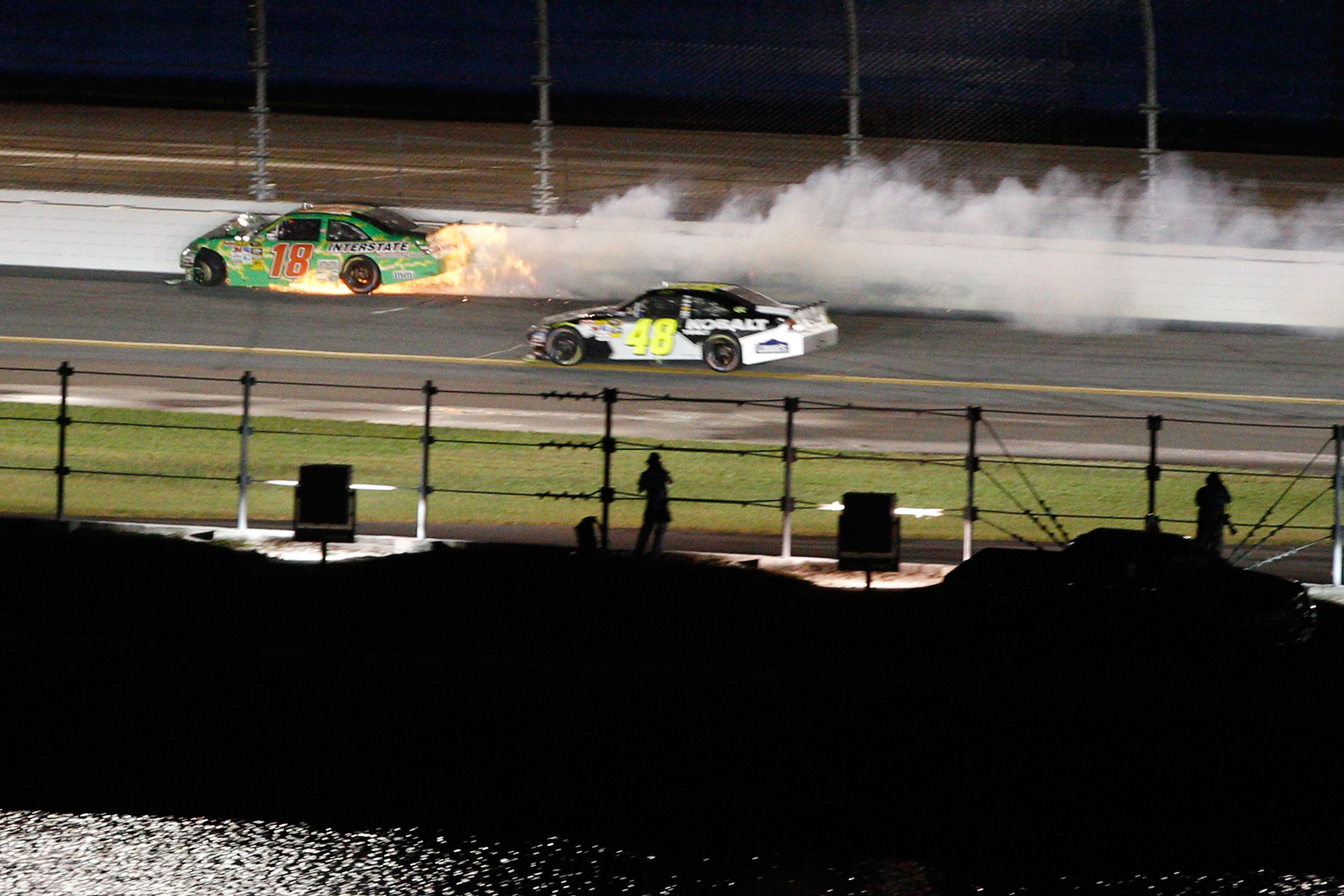 Kyle Busch pushes the edge of the envelope in every race but especially on restrictor plate tracks.
