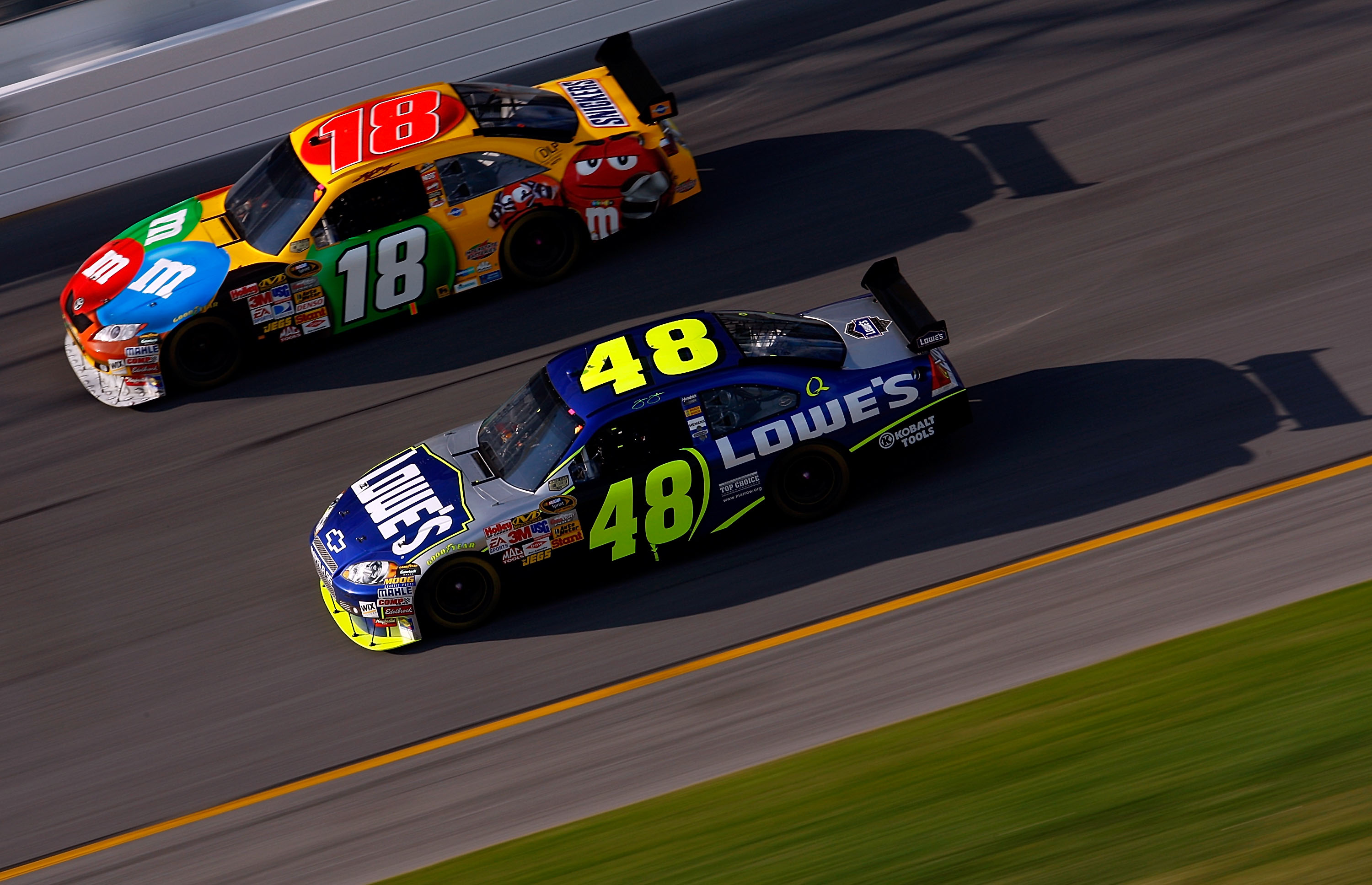Restrictor plate racing is the one facet of NASCAR Jimmie Johnson does not dominate.