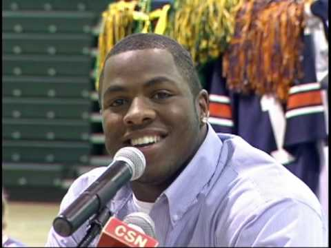 Michael Dyer the day he committed to Auburn
