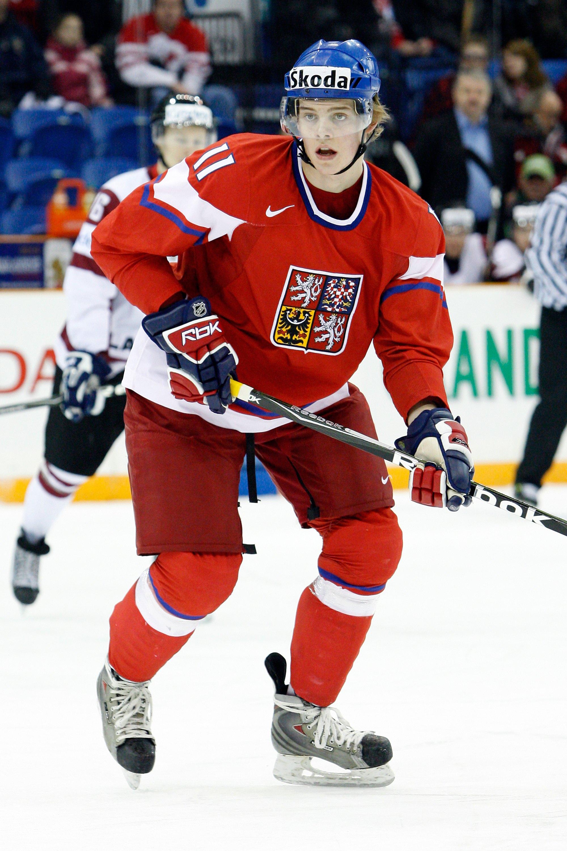 SASKATOON, SK - JANUARY 3:  Andrej Nestrasil #11 of Team Czech Republic skates during the 2010 IIHF World Junior Championship Tournament Relegation game against Team Latvia on January 3, 2010 at the Credit Union Centre in Saskatoon, Saskatchewan, Canada.