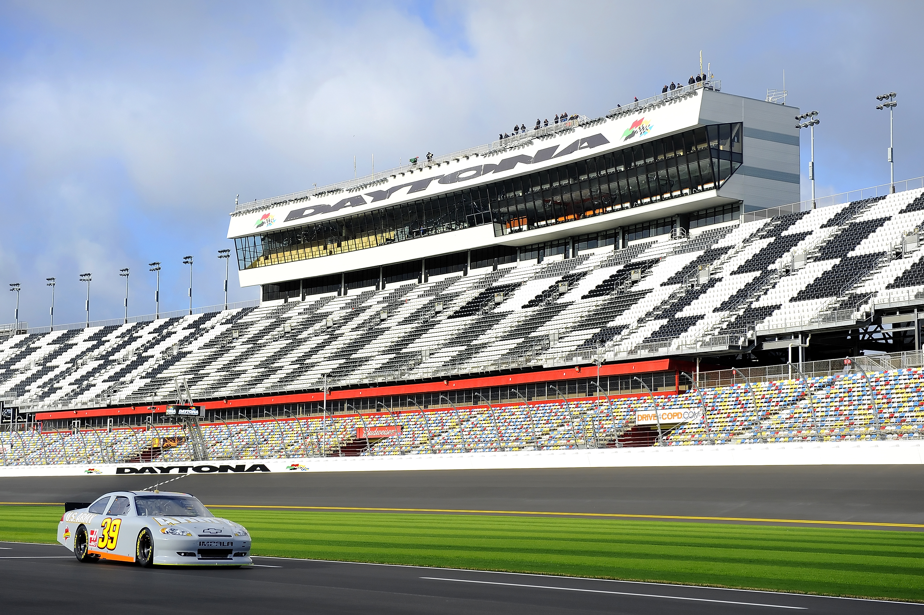 DAYTONA BEACH, FL - JANUARY 22:  Ryan Newman, driver of the #39 U.S. Army Chevrolet, drives down pit road during testing at Daytona International Speedway on January 22, 2011 in Daytona Beach, Florida.  (Photo by Jared C. Tilton/Getty Images for NASCAR)
