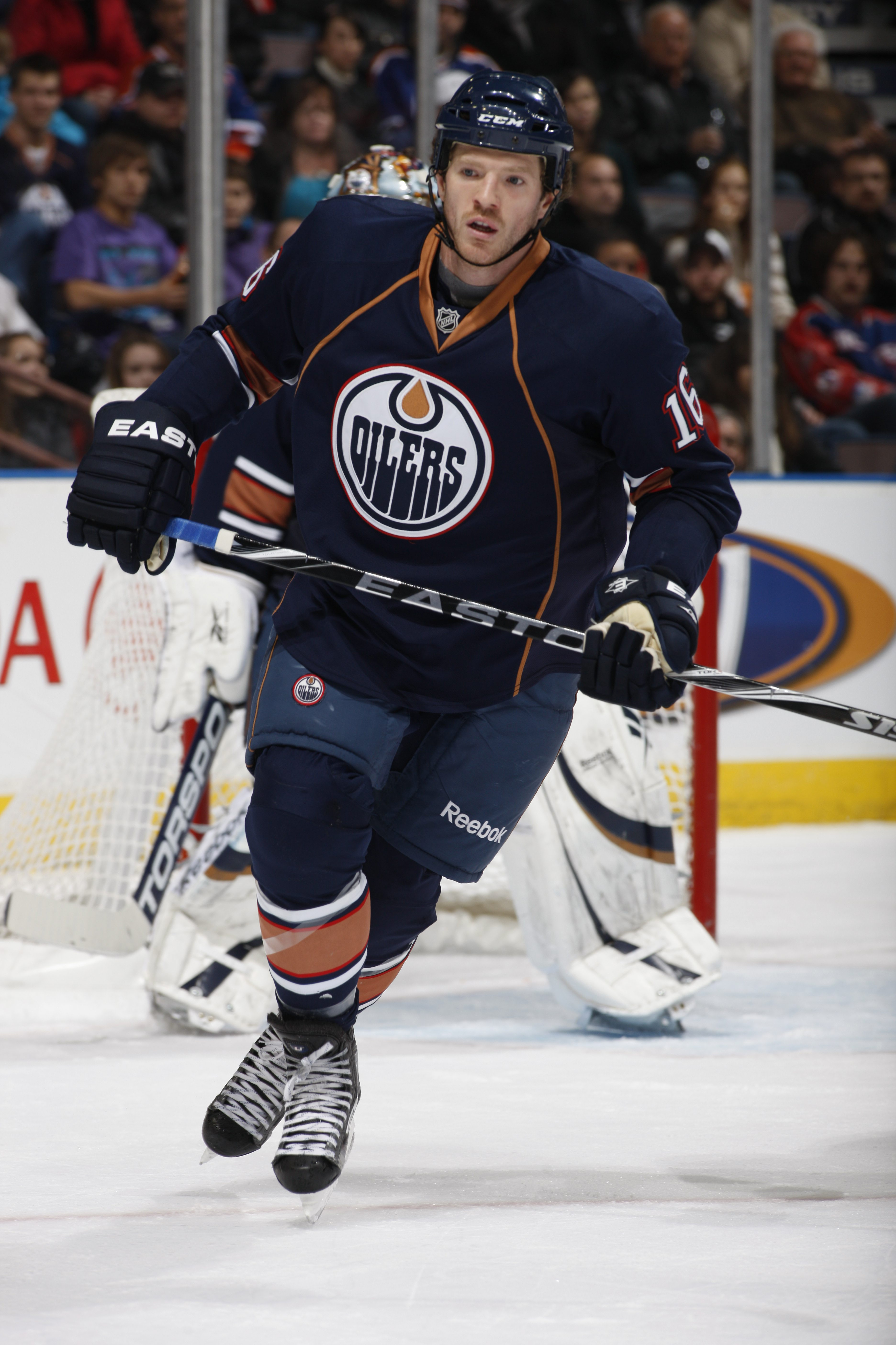 EDMONTON, CANADA - DECEMBER 16: Colin Fraser #16 of the Edmonton Oilers skates against the Columbus Blue Jackets on December 16, 2010 at Rexall Place in Edmonton, Alberta, Canada. (Photo by Dale MacMillan/Getty Images)