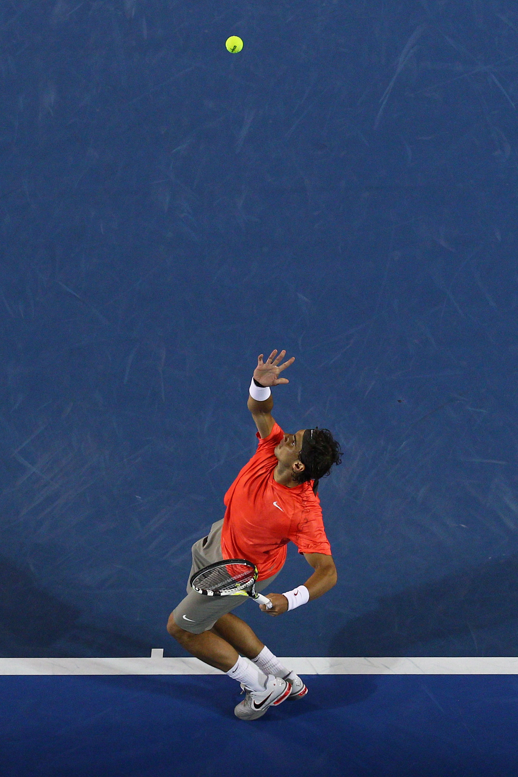 Nadal's serve was key to winning his first US Open title.