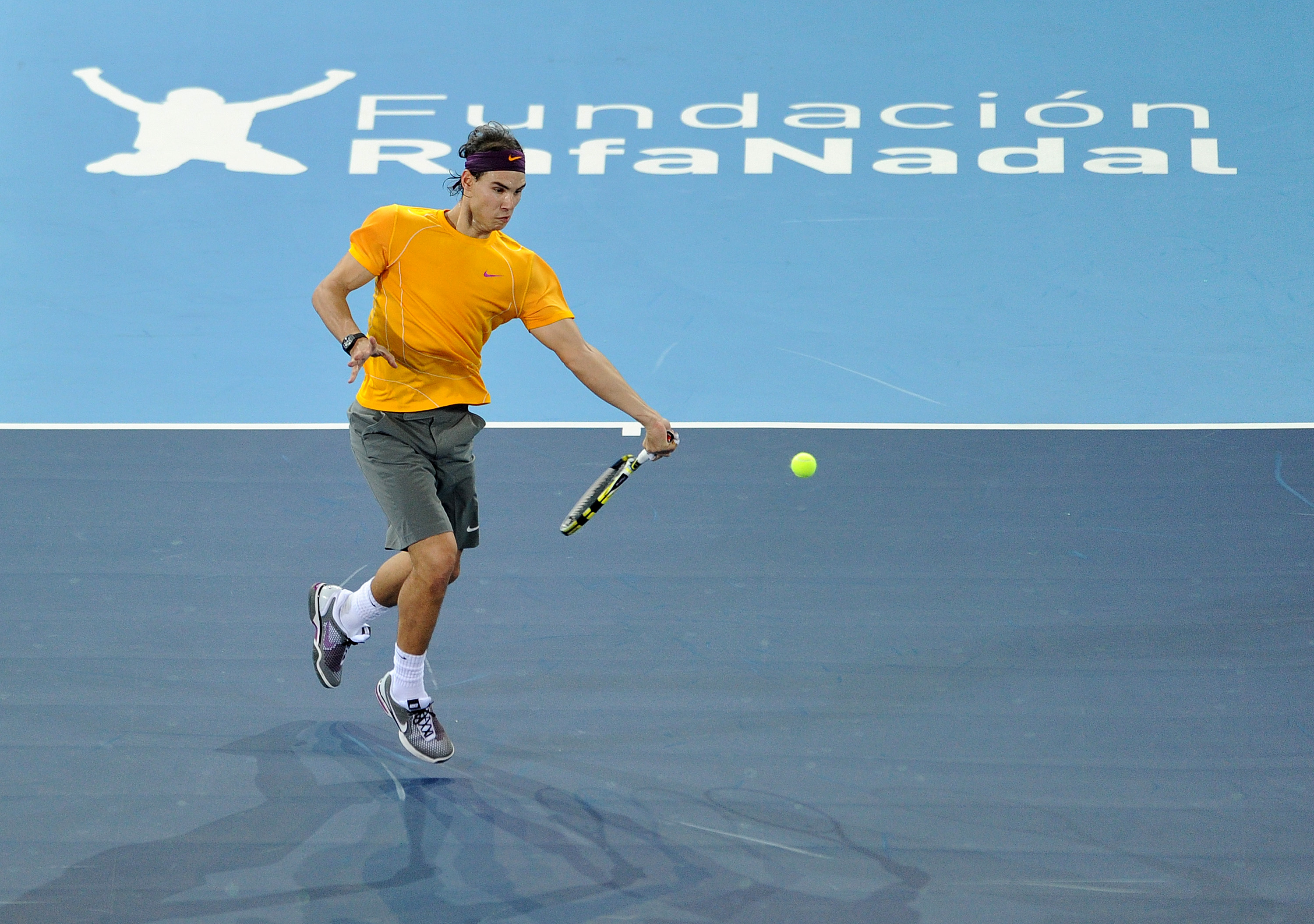 Nadal took part in two exhibition matches in December for Charity