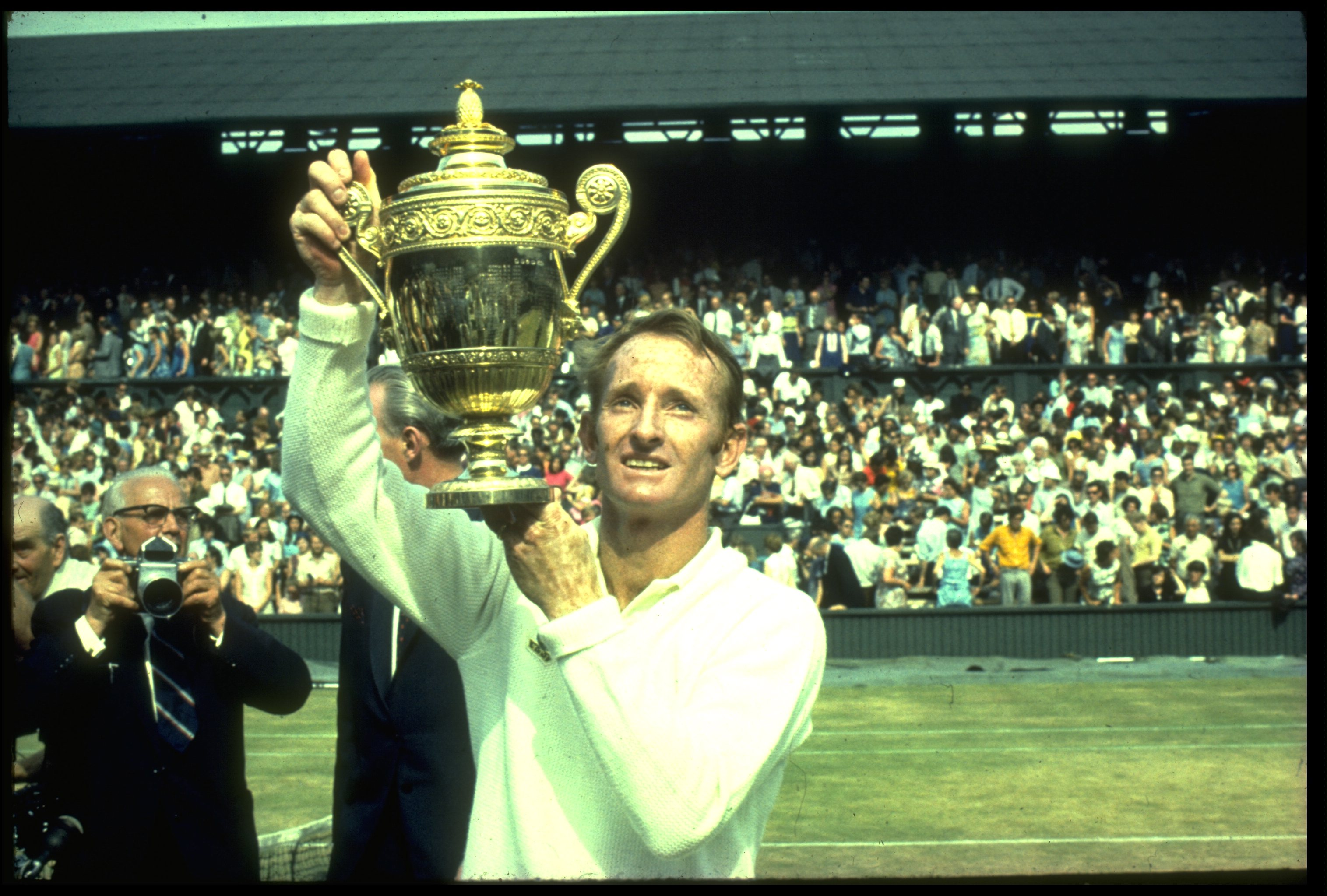 Rod Laver is the last man to hold all four Slams at once, in 1969.