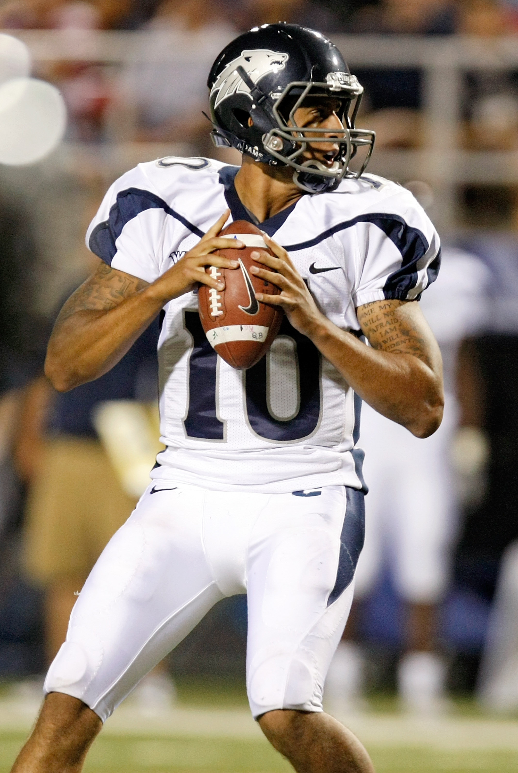 Nevada quarterback Colin Kaepernick is the only player in NCAA Division I history to throw for over 10,000 yards and rush for over 4,000 yards in a career.