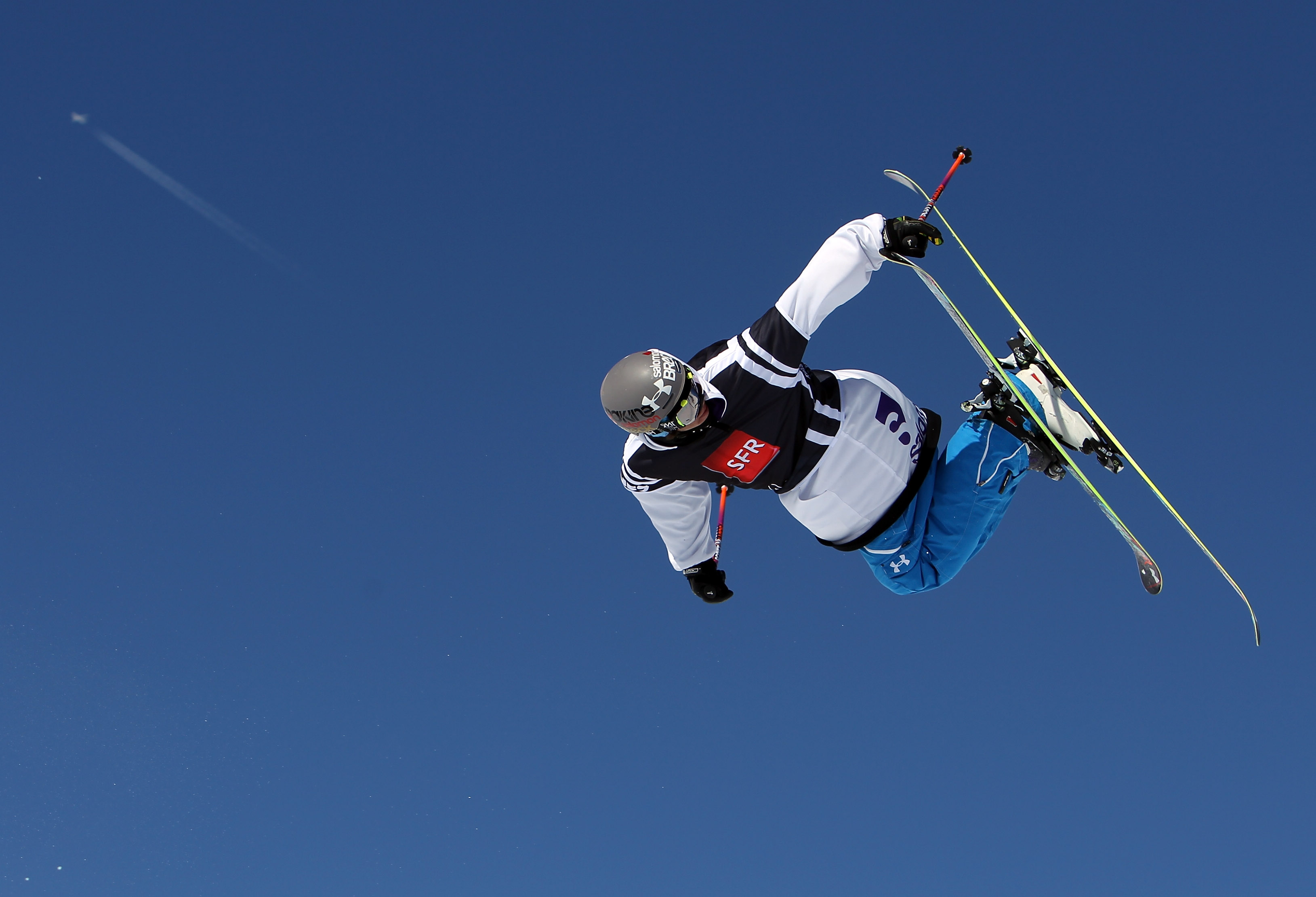 TIGNES, FRANCE - MARCH 11:  Bobby Brown of USA in action in the Ski Slopestyle during the Winter X Games Europe on March 11, 2010 in Tignes, France.  (Photo by Julian Finney/Getty Images)